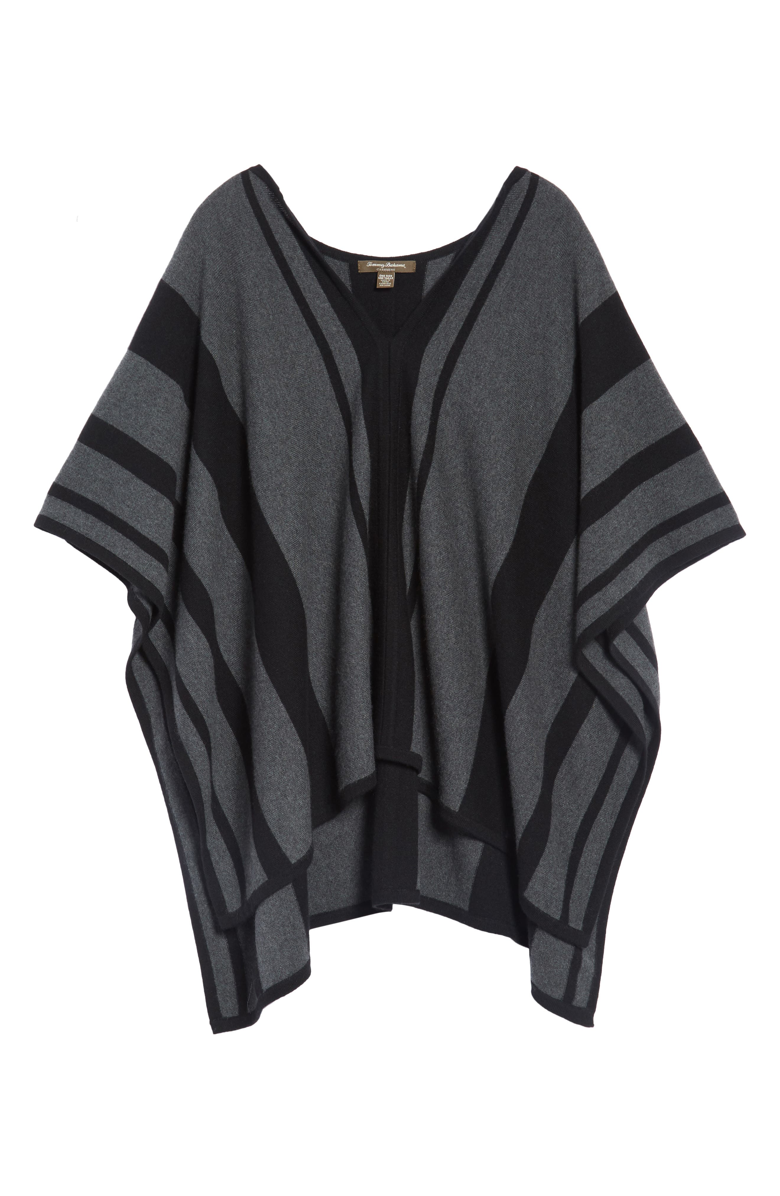 Island Stripe Cashmere Poncho,                             Alternate thumbnail 6, color,                             050
