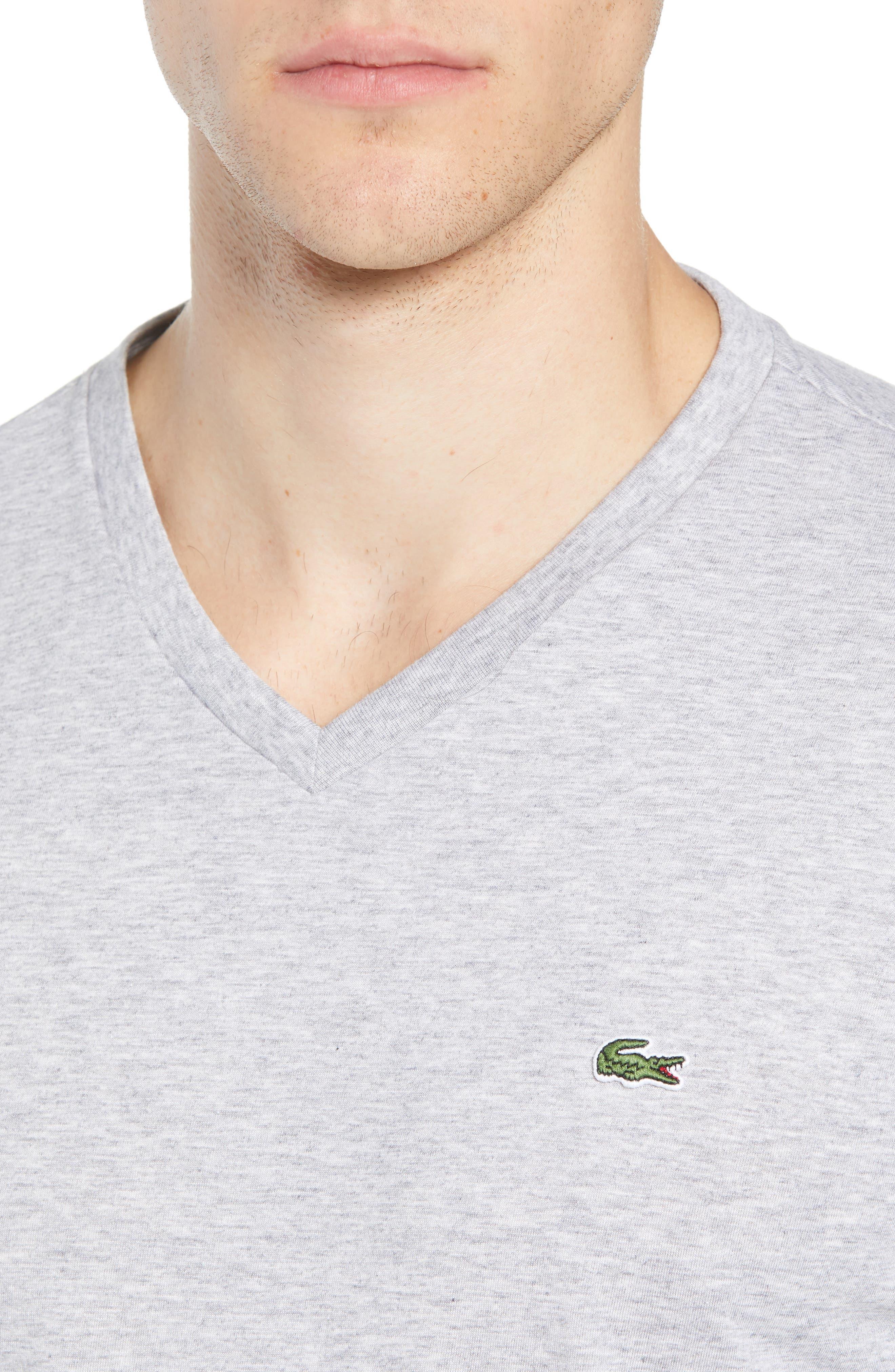 Long Sleeve T-Shirt,                             Alternate thumbnail 4, color,                             SILVER CHINE
