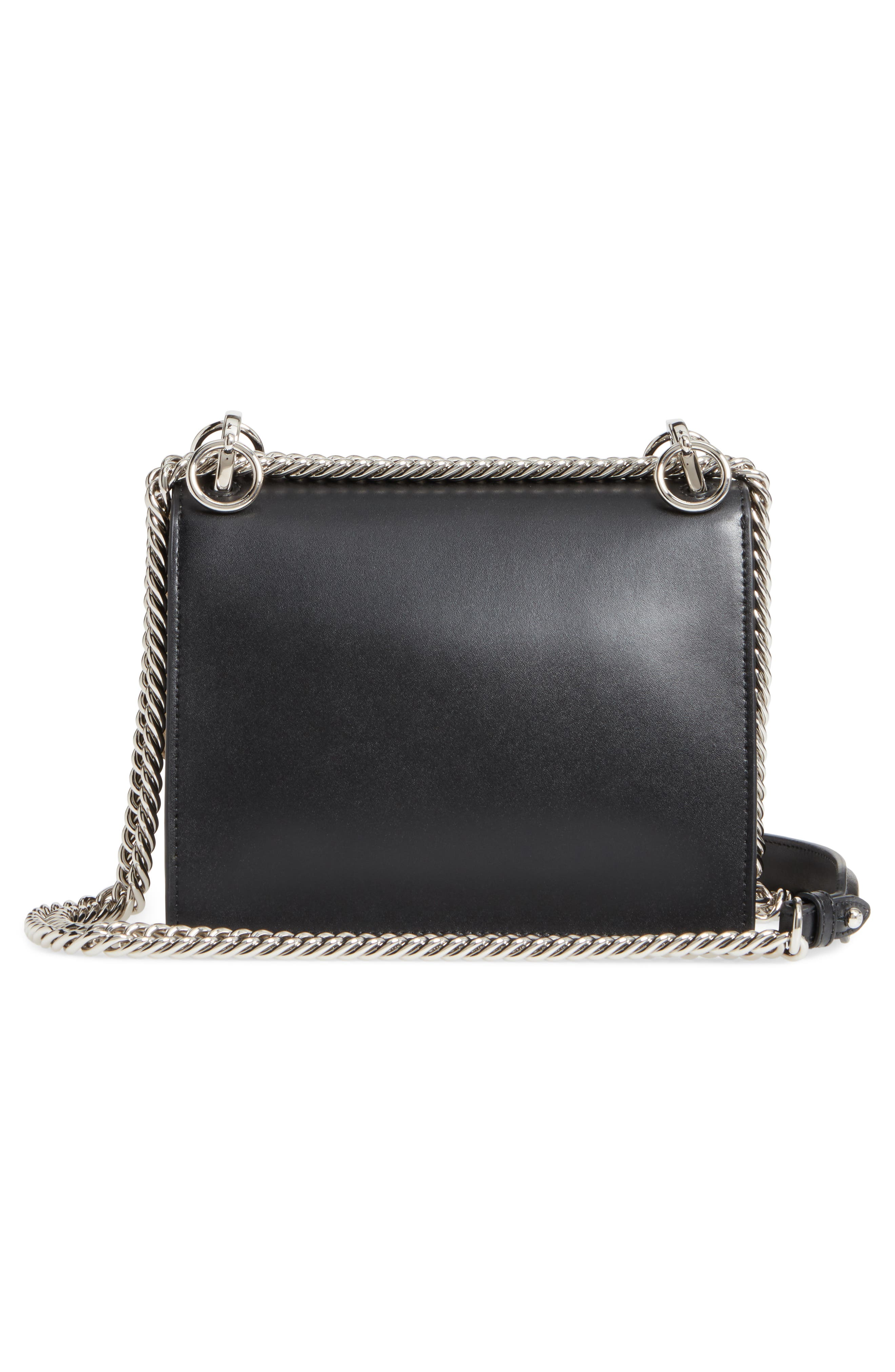 Small Kan I Imitation Pearl Stud Calfskin Shoulder Bag,                             Alternate thumbnail 3, color,                             BLACK