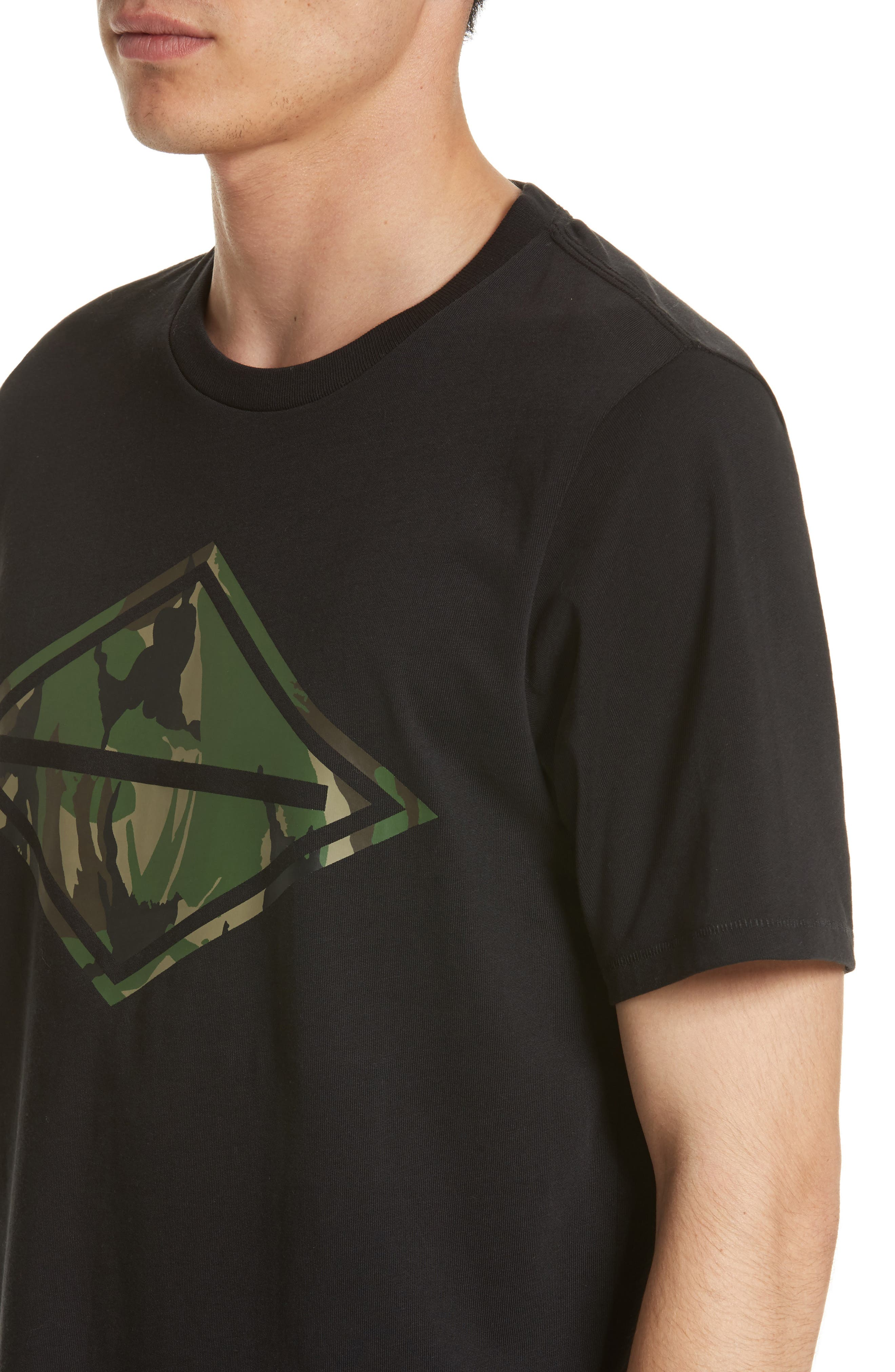 Camo Diamond Graphic T-Shirt,                             Alternate thumbnail 4, color,                             001