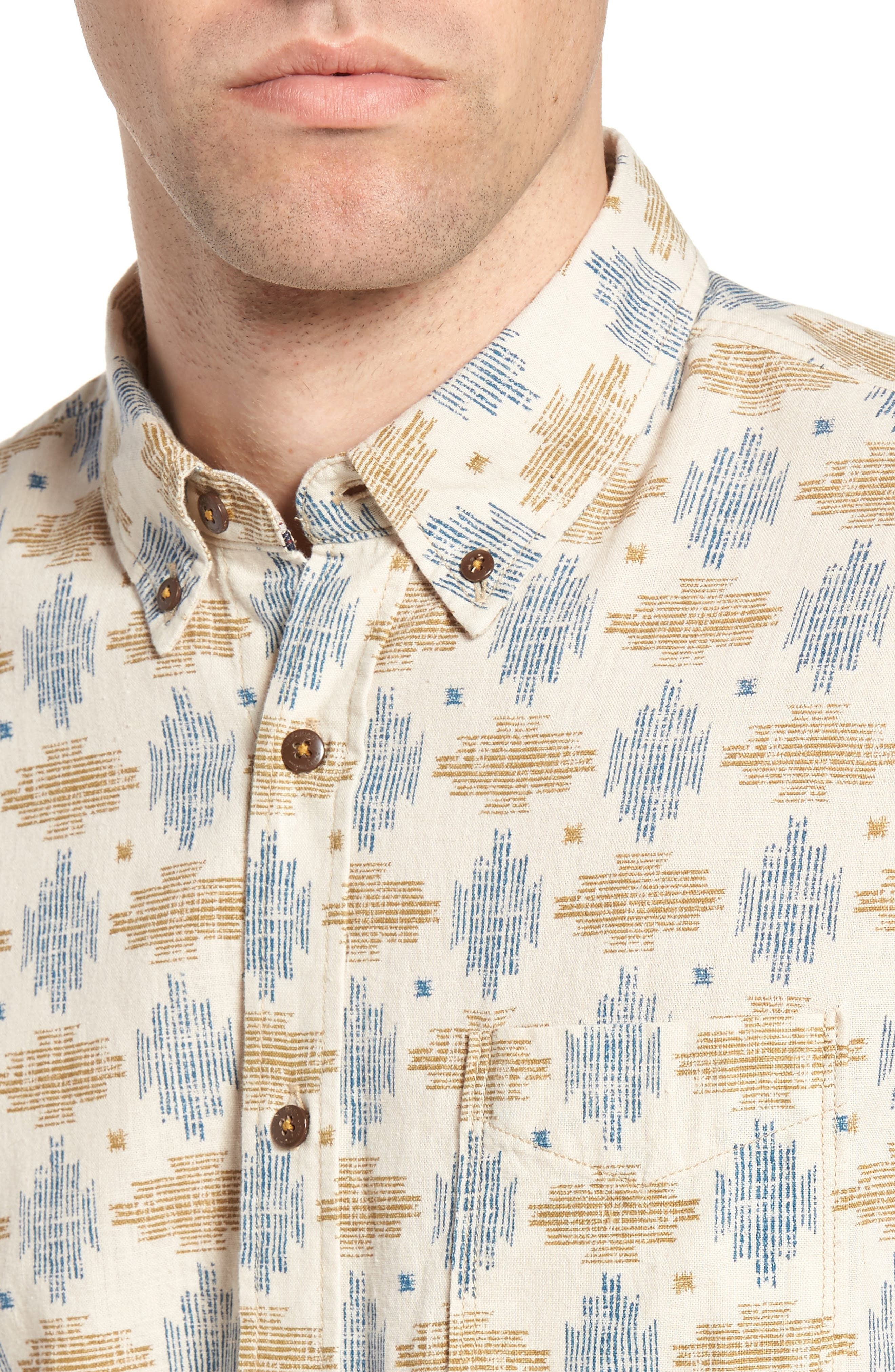 Giles Regular Fit Linen & Cotton Sport Shirt,                             Alternate thumbnail 4, color,                             251