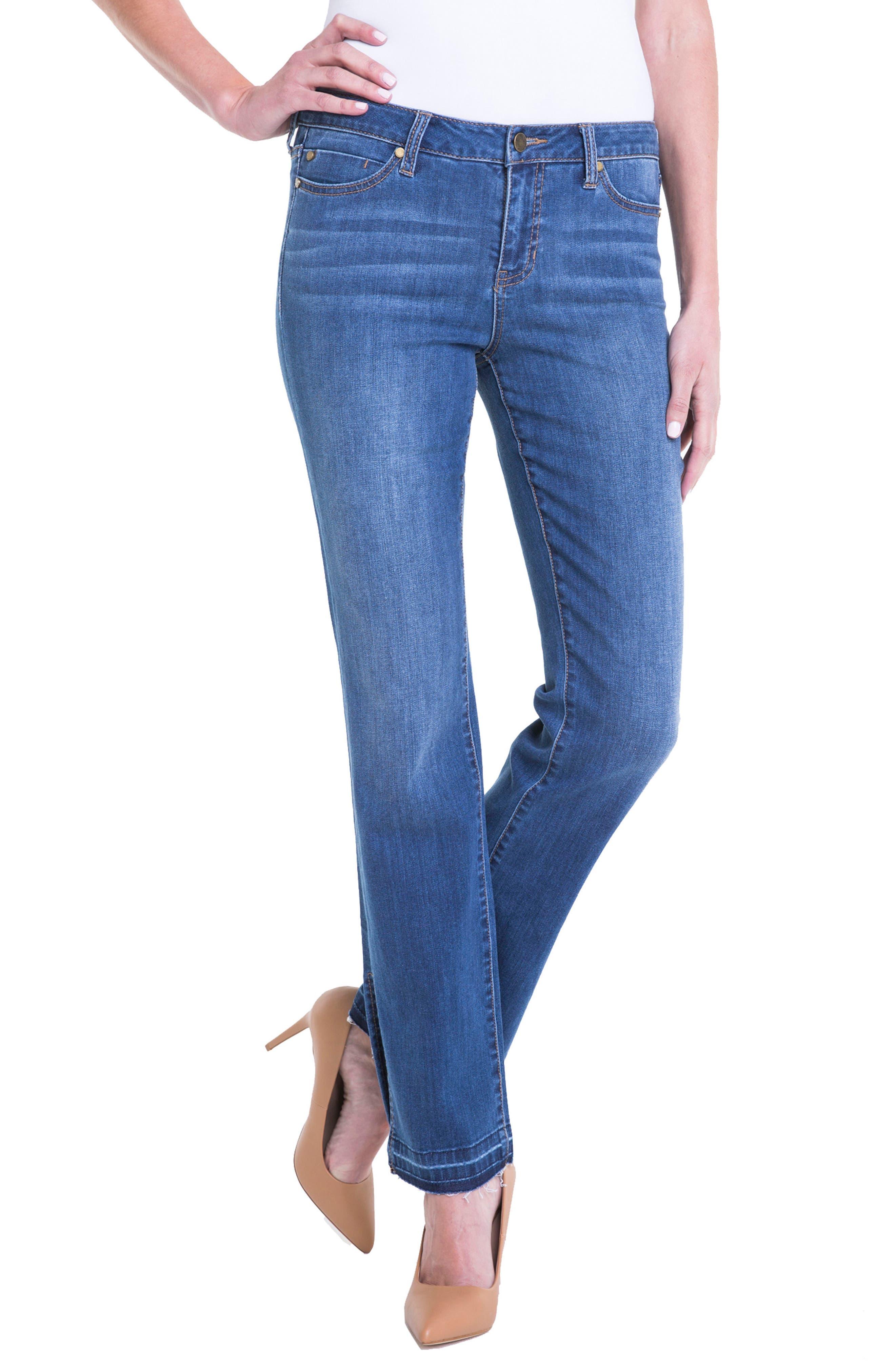 Tabitha Release Hem Straight Leg Jeans,                             Alternate thumbnail 5, color,