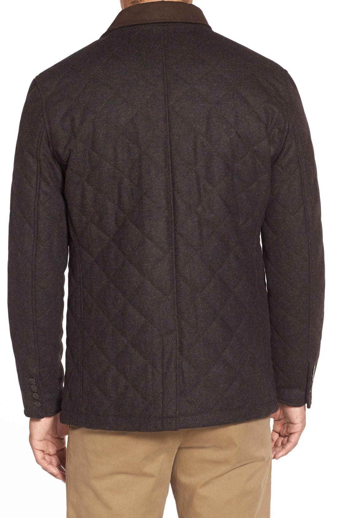 'Shooter' Wool Blend Quilted Jacket,                             Alternate thumbnail 14, color,