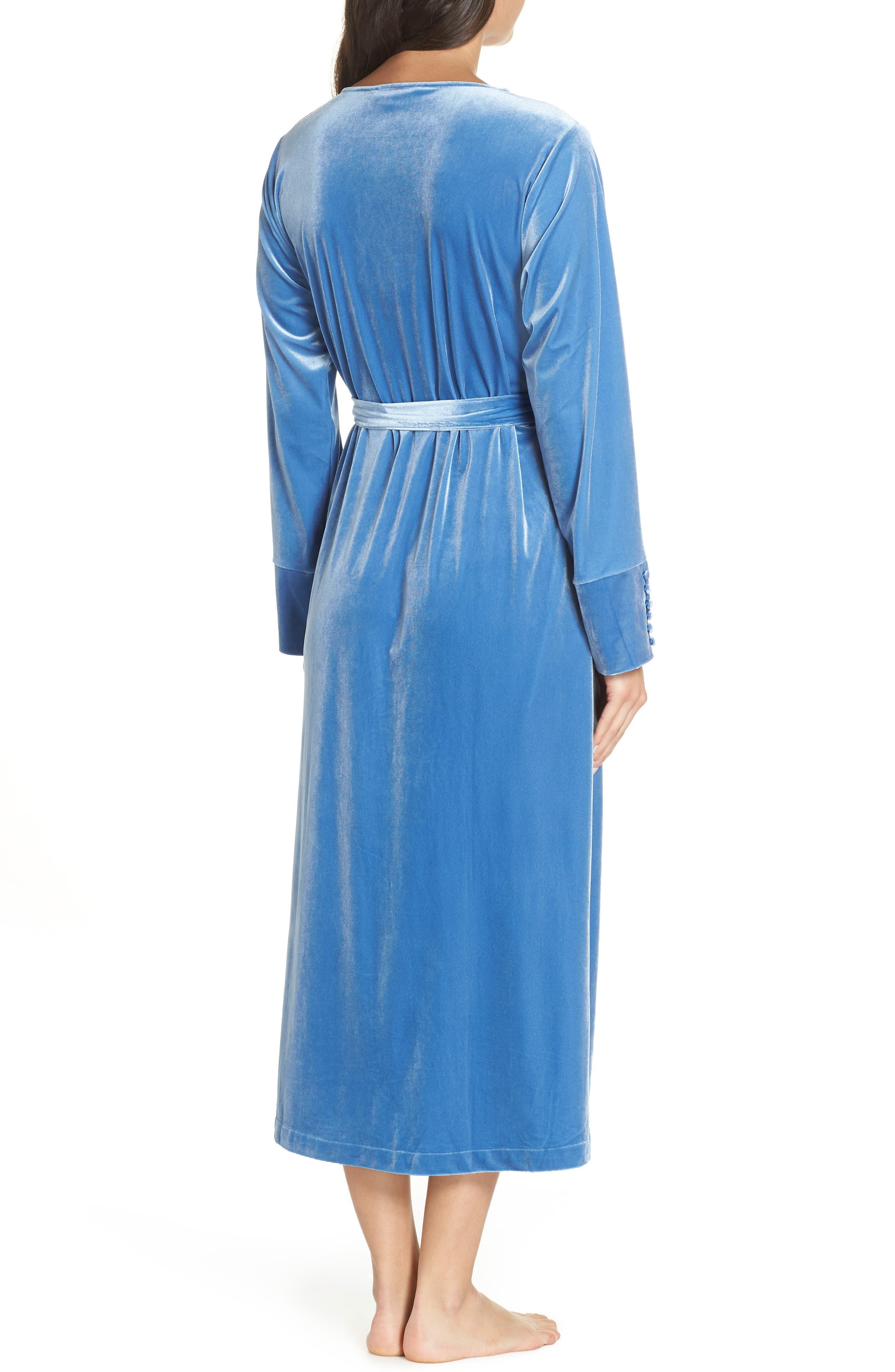 Dream Away Velour Robe,                             Alternate thumbnail 2, color,                             BLUE DELFT