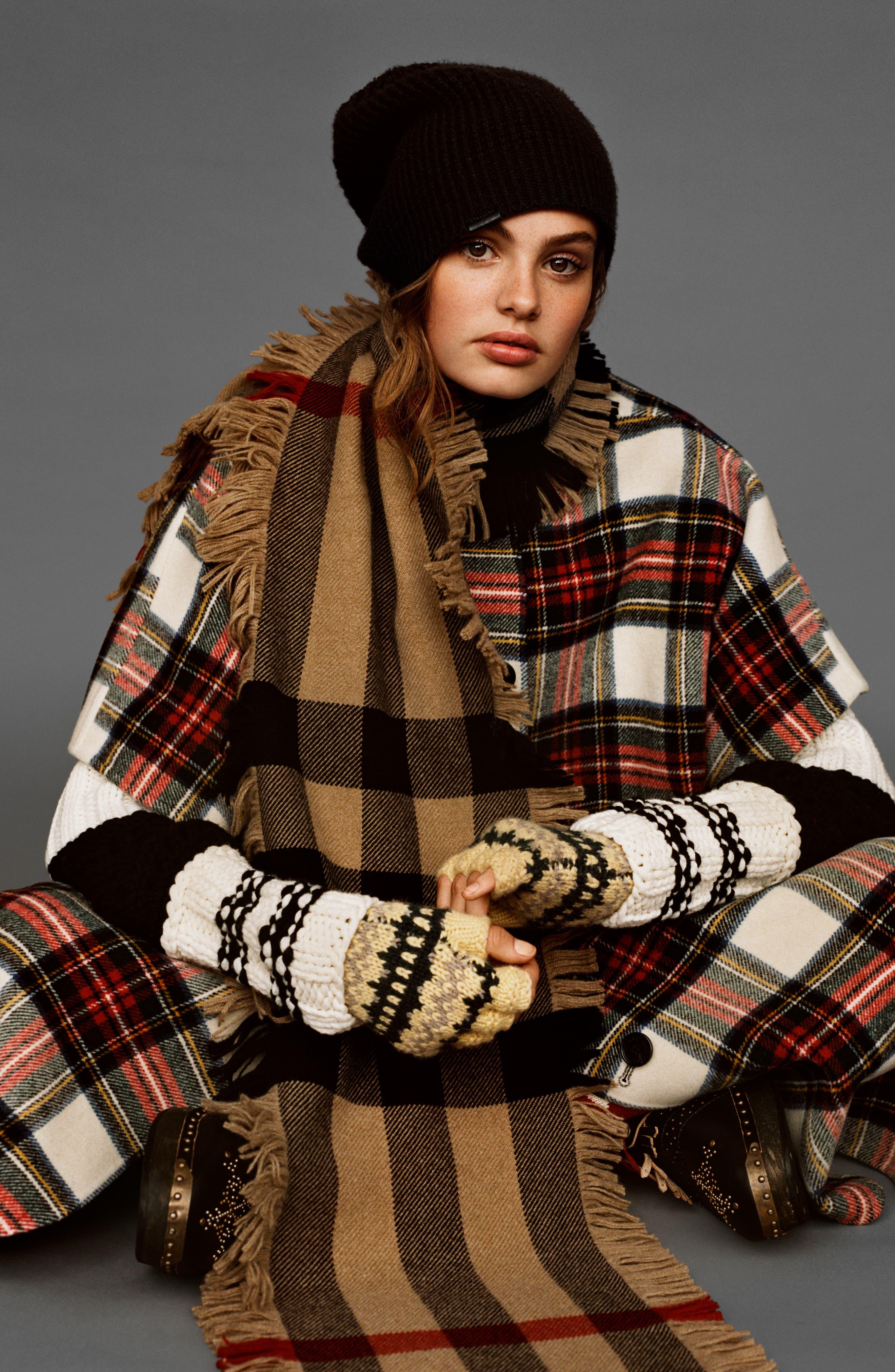 Mega Fashion Fringe Wool Scarf,                             Alternate thumbnail 6, color,                             608