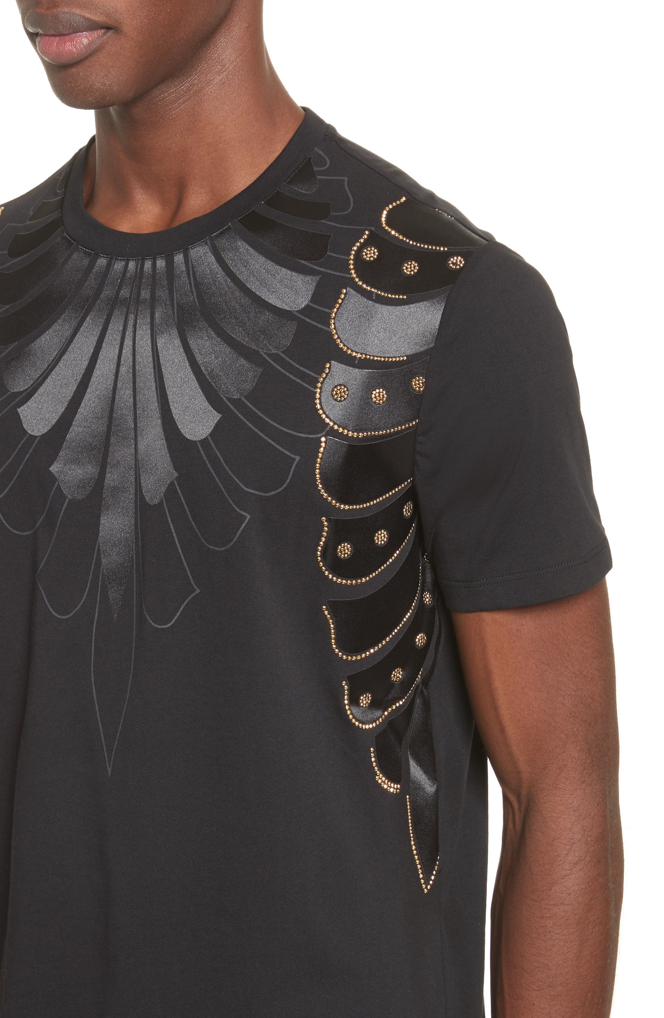 Armor Print T-Shirt,                             Alternate thumbnail 4, color,