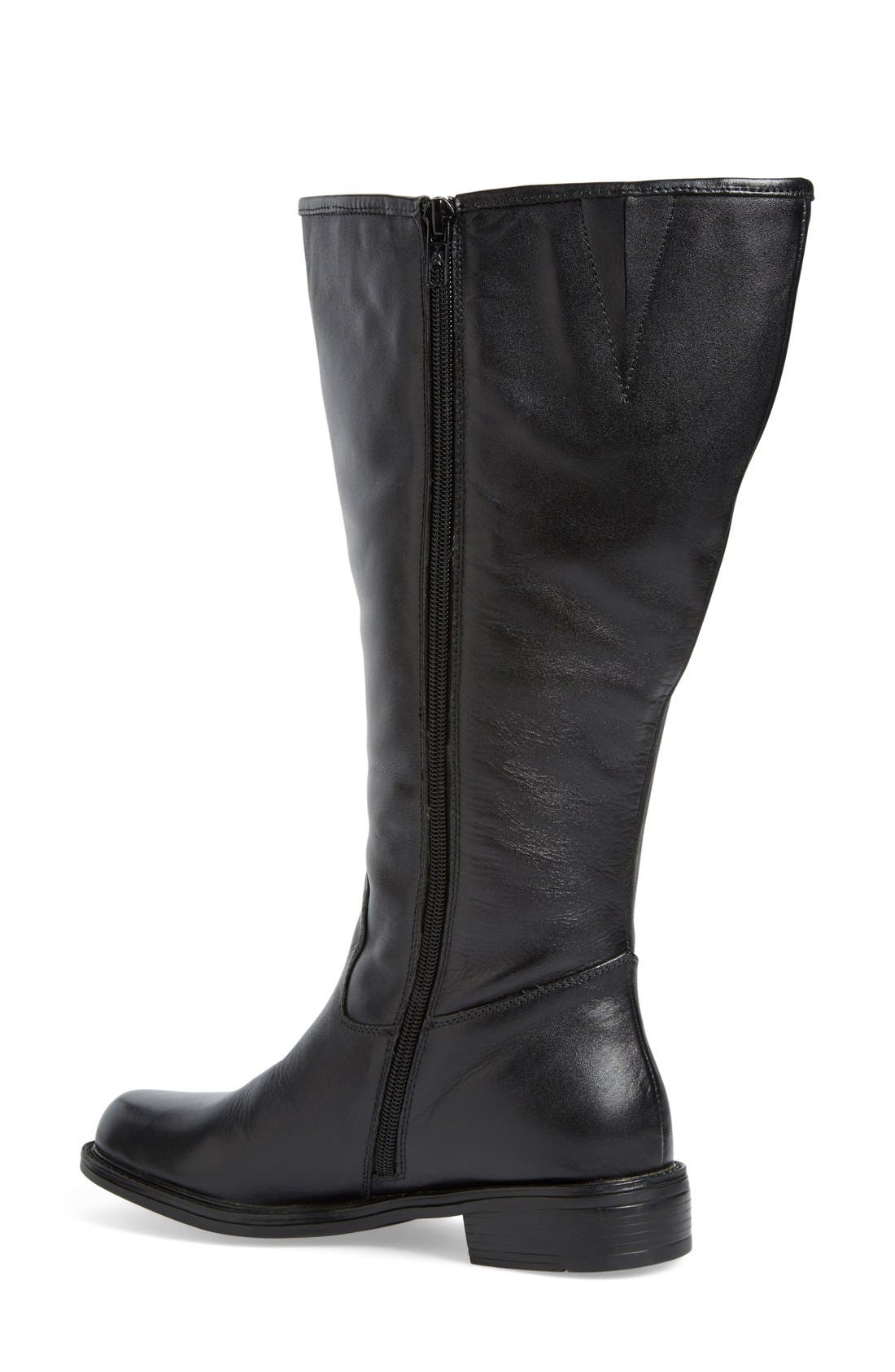 'Best' Calfskin Leather & Suede Boot,                             Alternate thumbnail 18, color,