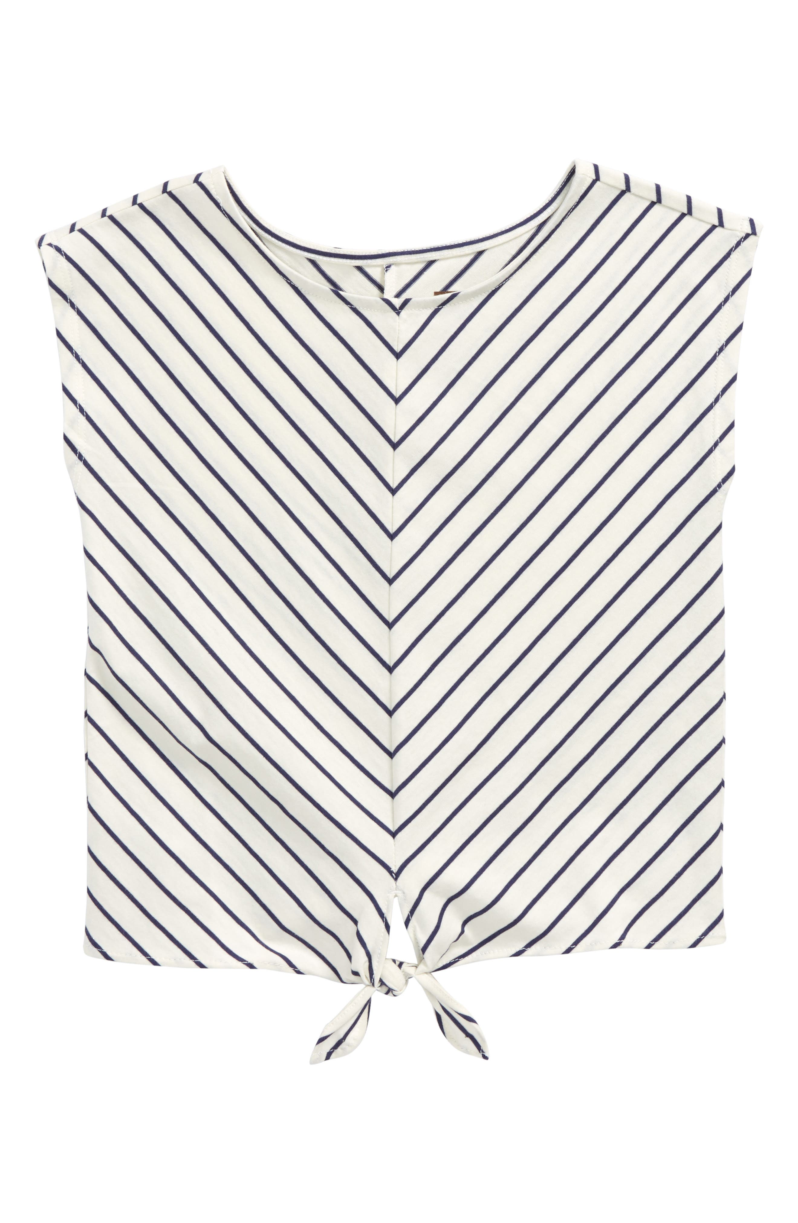 Stripe Tie Waist Tee,                         Main,                         color,