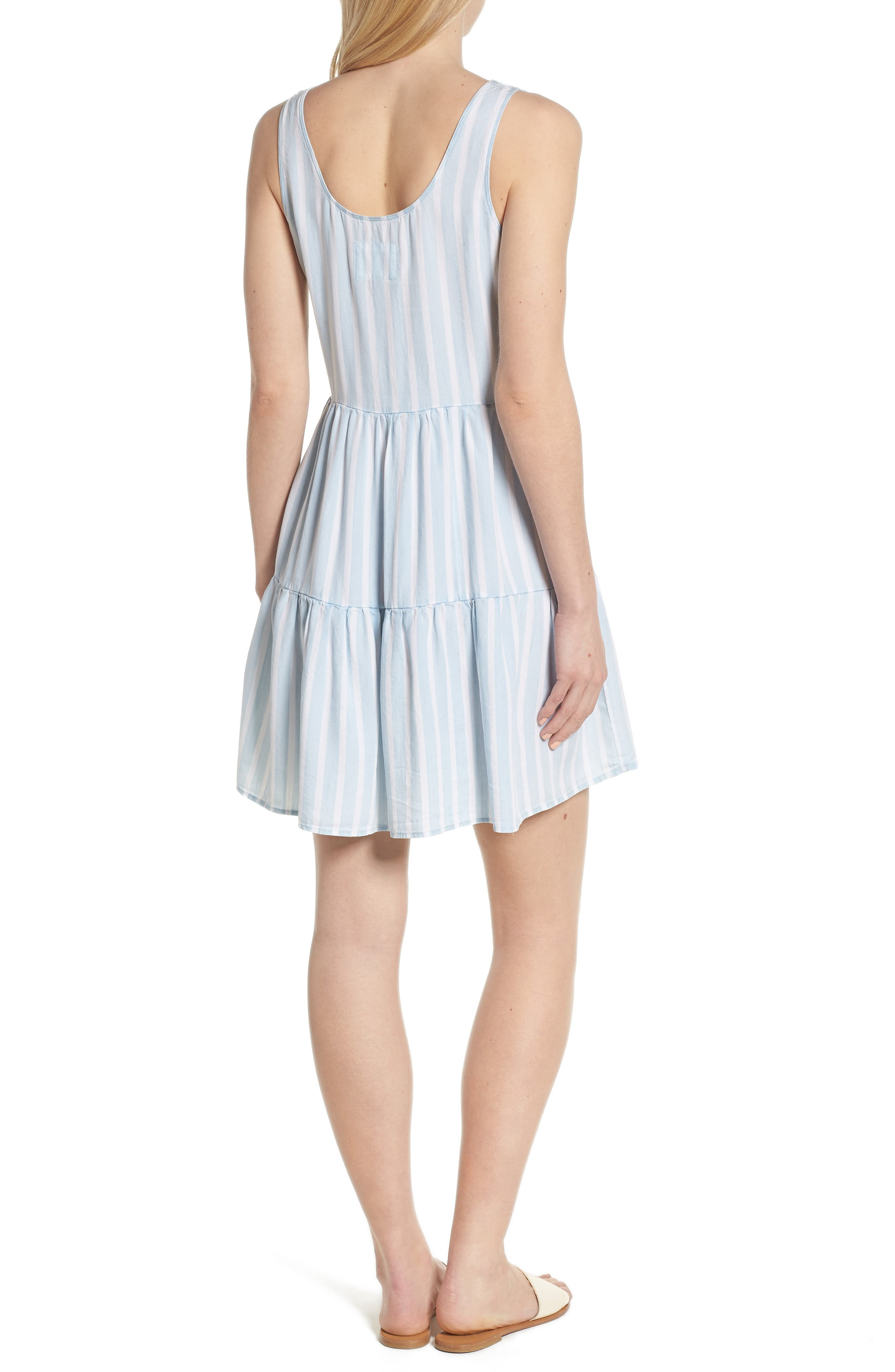 Nora Stripe Dress,                             Alternate thumbnail 2, color,                             470