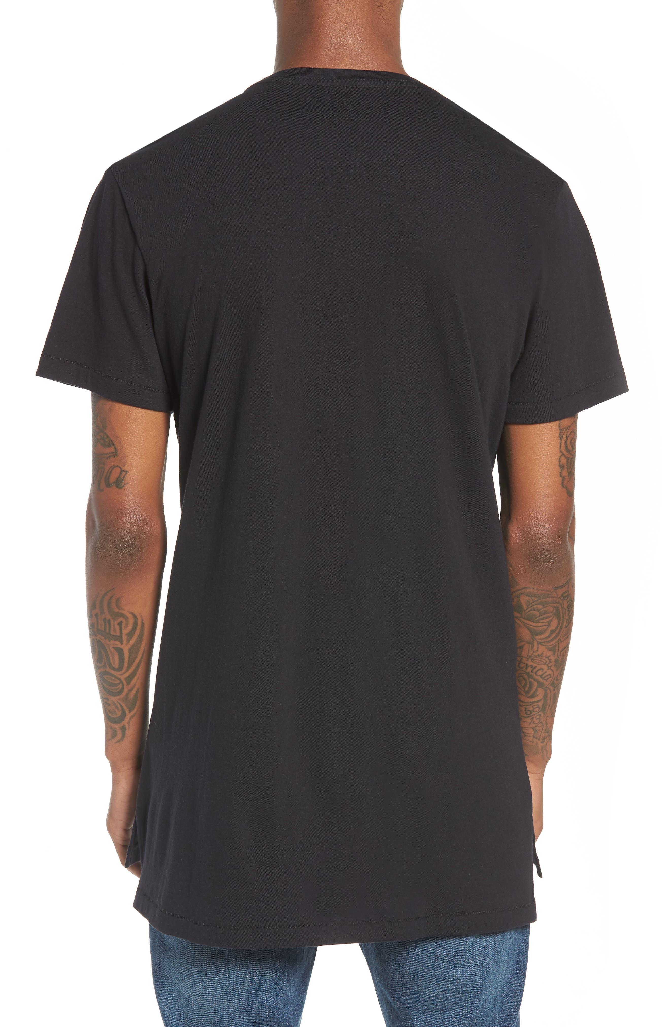 Longline T-Shirt,                             Alternate thumbnail 2, color,                             001