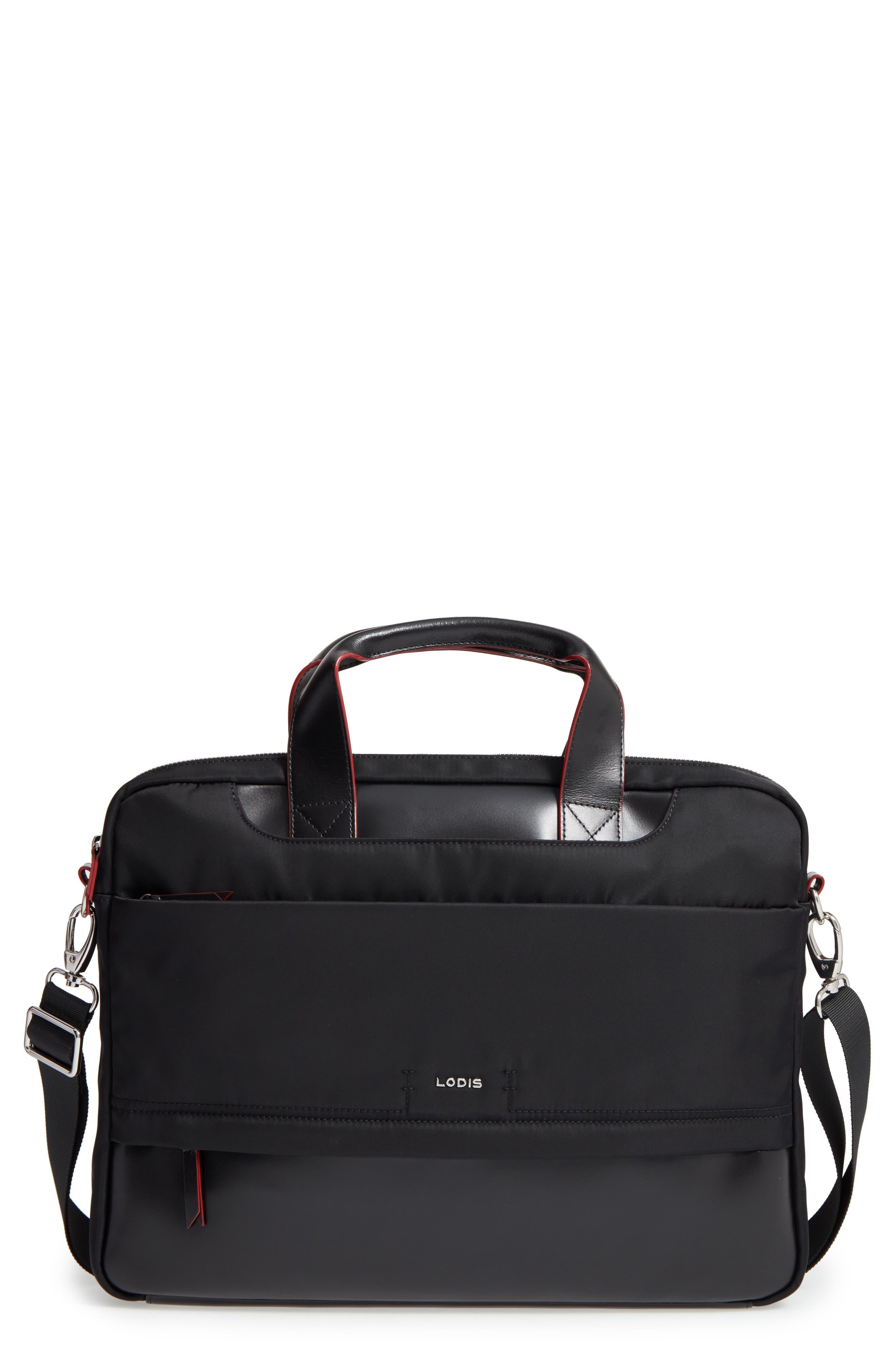 Kate Under Lock & Key Alexus Nylon & Leather Briefcase,                             Main thumbnail 2, color,