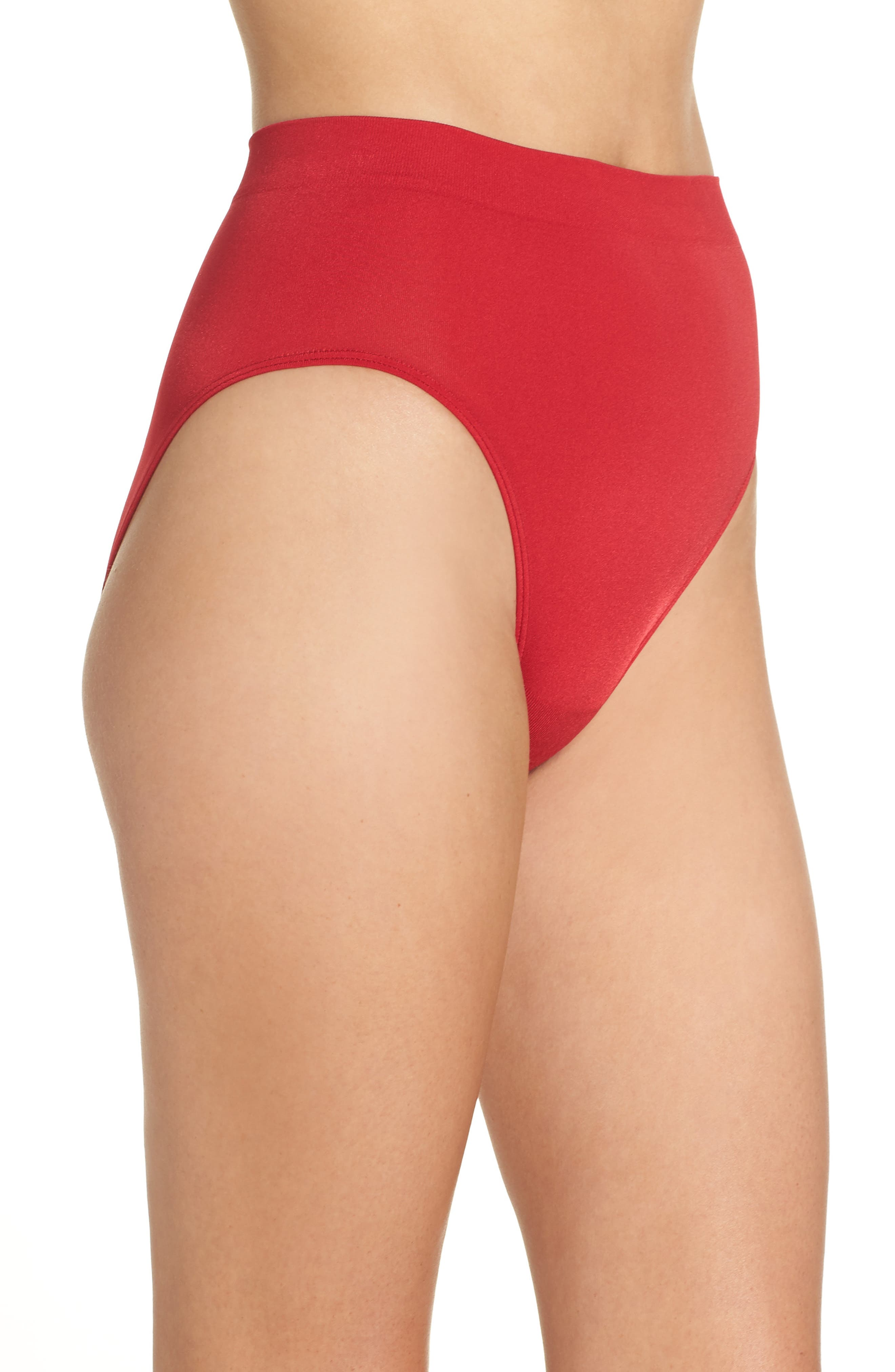 B Smooth High Cut Briefs,                             Alternate thumbnail 3, color,                             JESTER RED