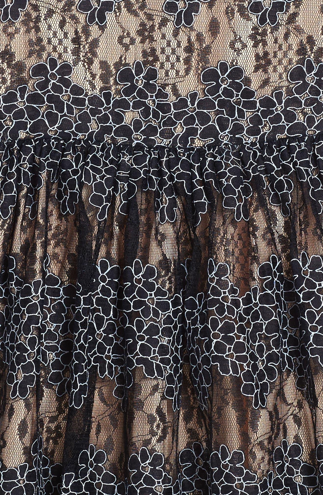 Floral Lace Dress,                             Alternate thumbnail 3, color,                             410
