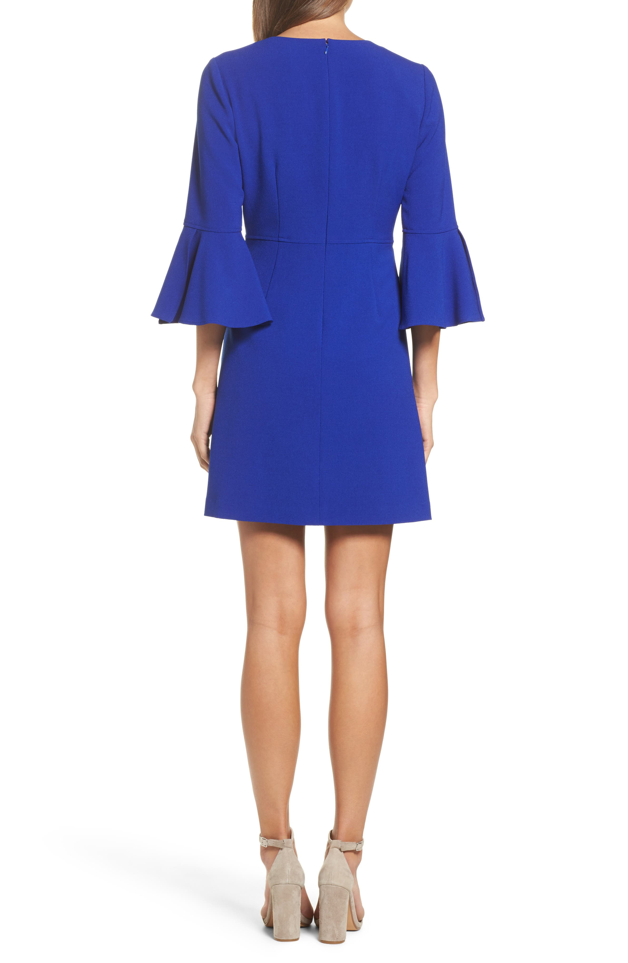 Bell Sleeve Dress,                             Alternate thumbnail 2, color,                             430