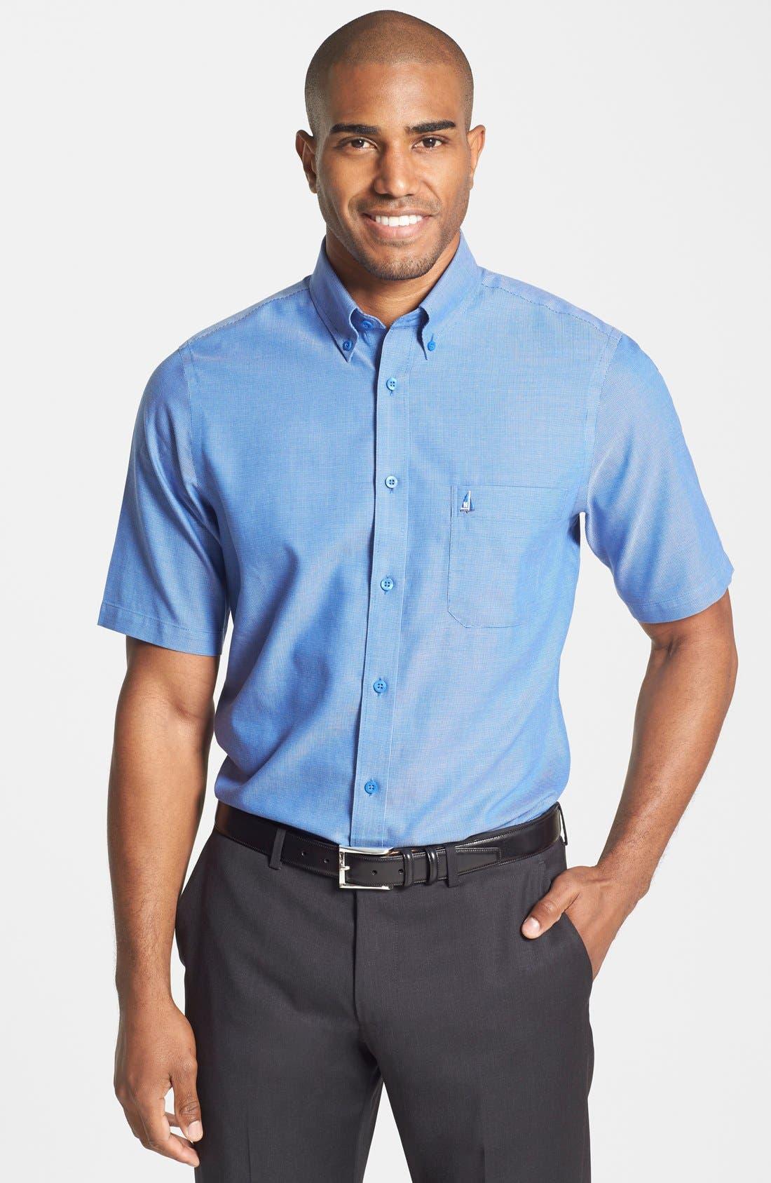 'Classic' Smartcare<sup>™</sup> Regular Fit Short Sleeve Cotton Sport Shirt,                             Main thumbnail 12, color,