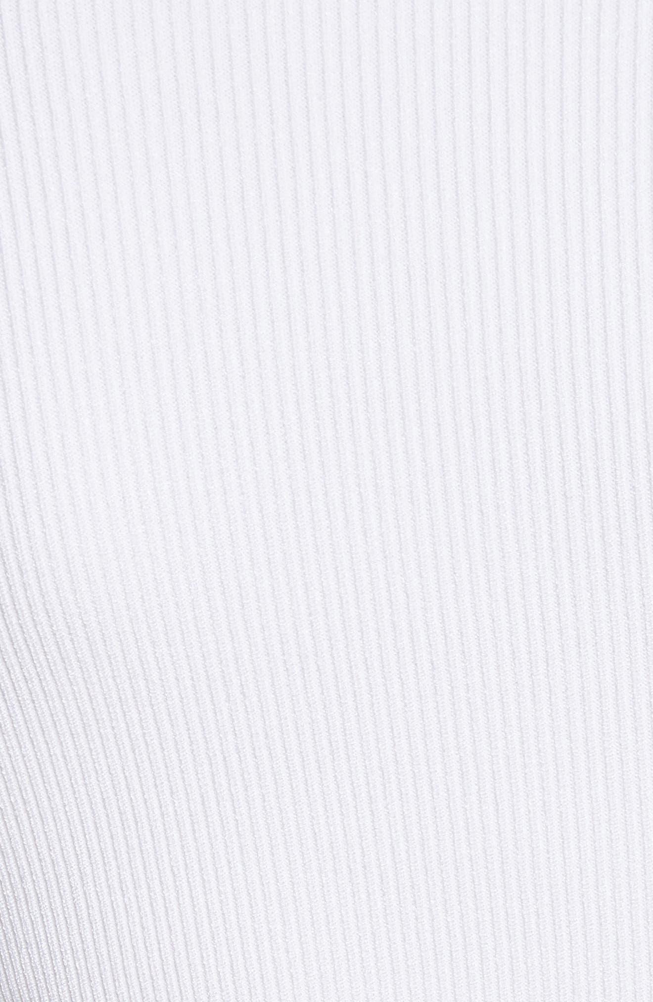 Vivian Asymmetrical Neck Knit Bodysuit,                             Alternate thumbnail 5, color,                             101