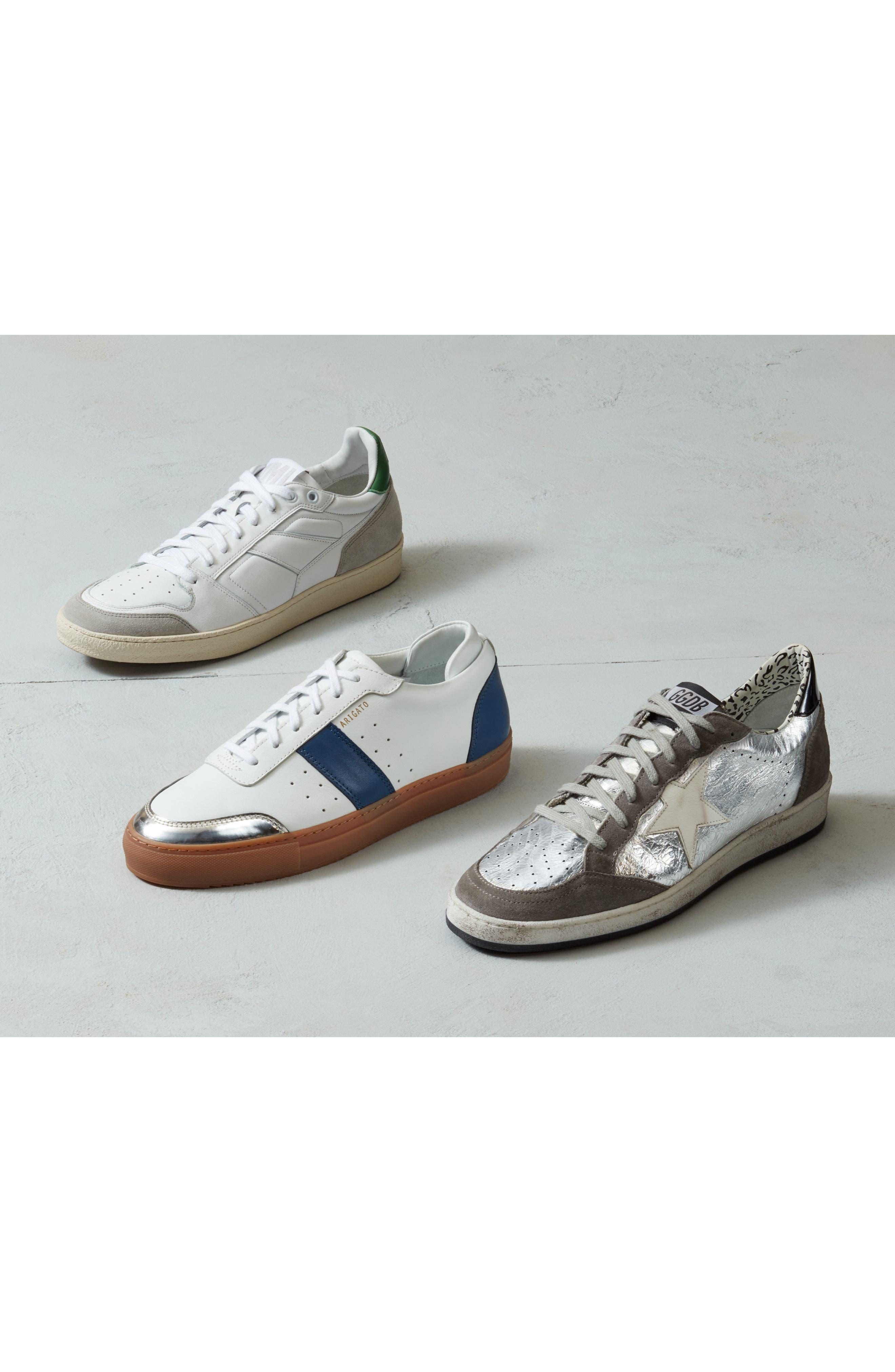 AXEL ARIGATO,                             Dunk Sneaker,                             Alternate thumbnail 7, color,                             WHITE W/ BLACK STRIPE
