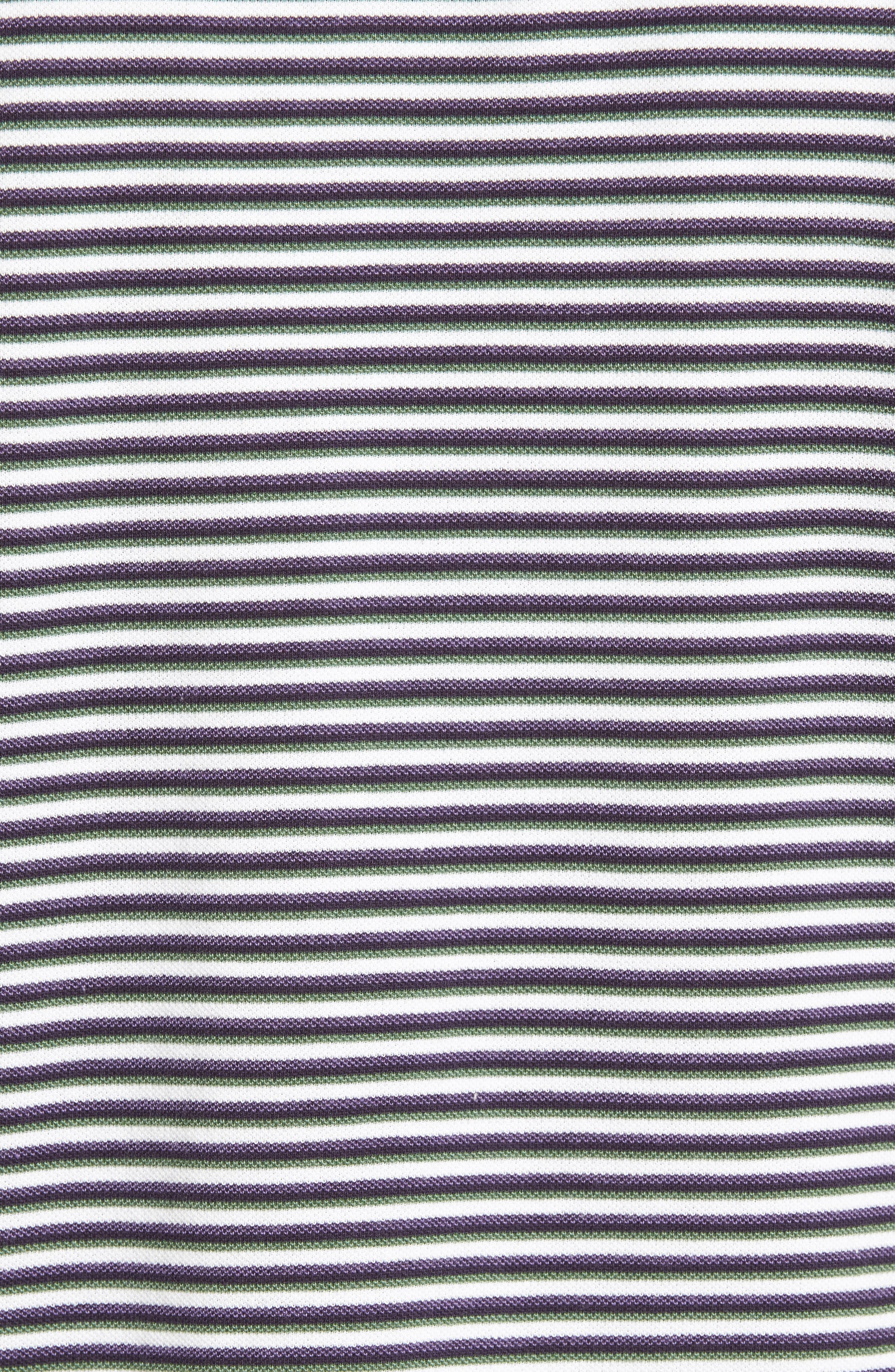 Swyers Point Sports Fit Stripe Polo,                             Alternate thumbnail 5, color,