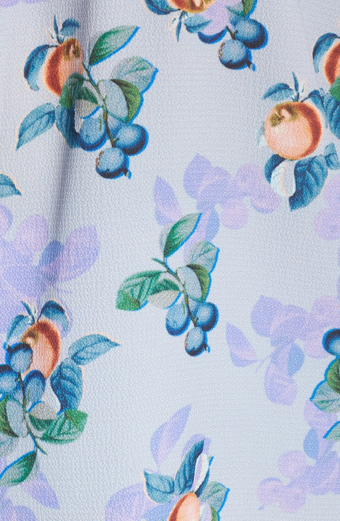 Peach Print Blouse,                             Alternate thumbnail 6, color,                             460