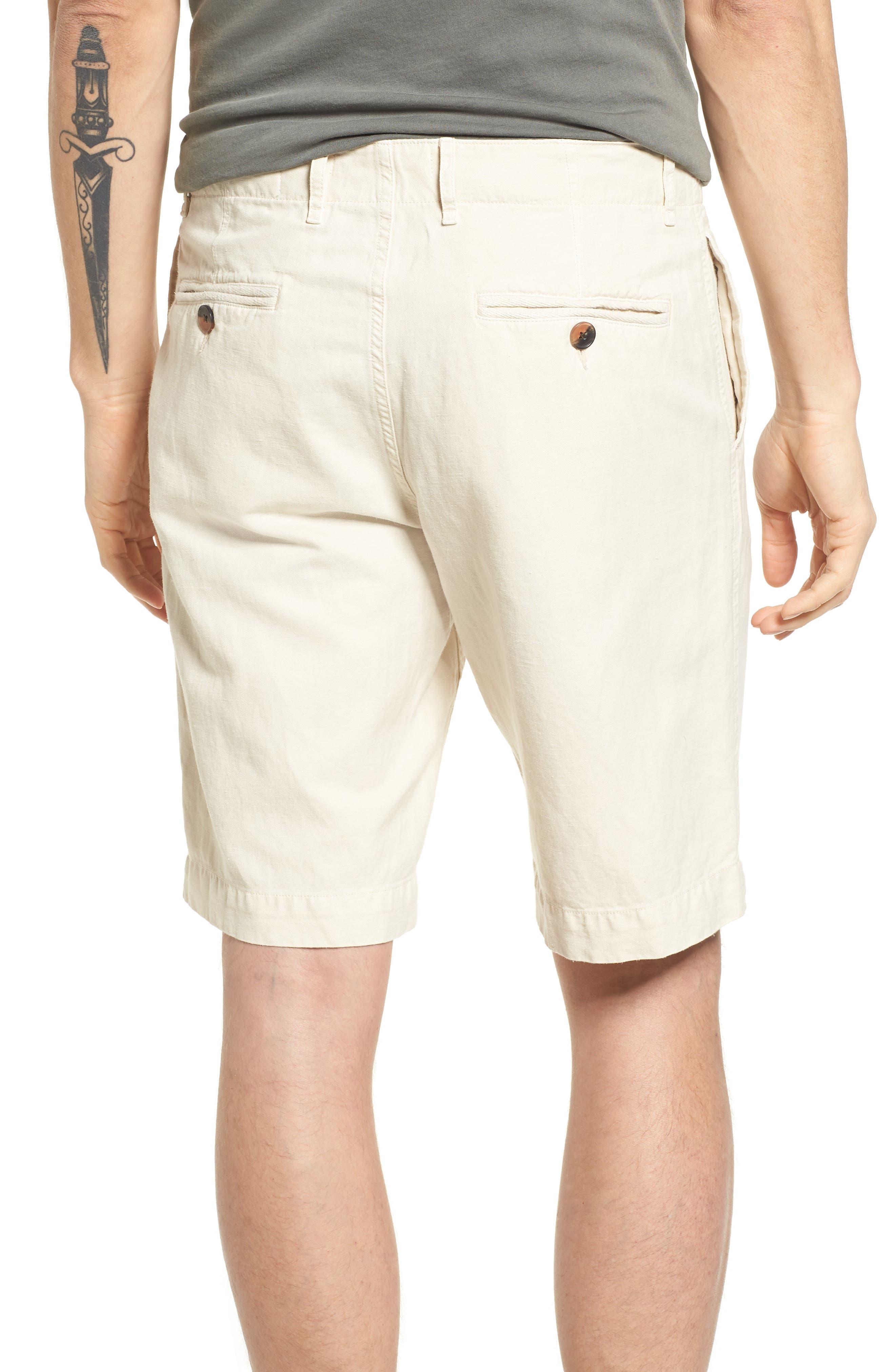 Clyde Cotton & Linen Shorts,                             Alternate thumbnail 2, color,                             EGGSHELL