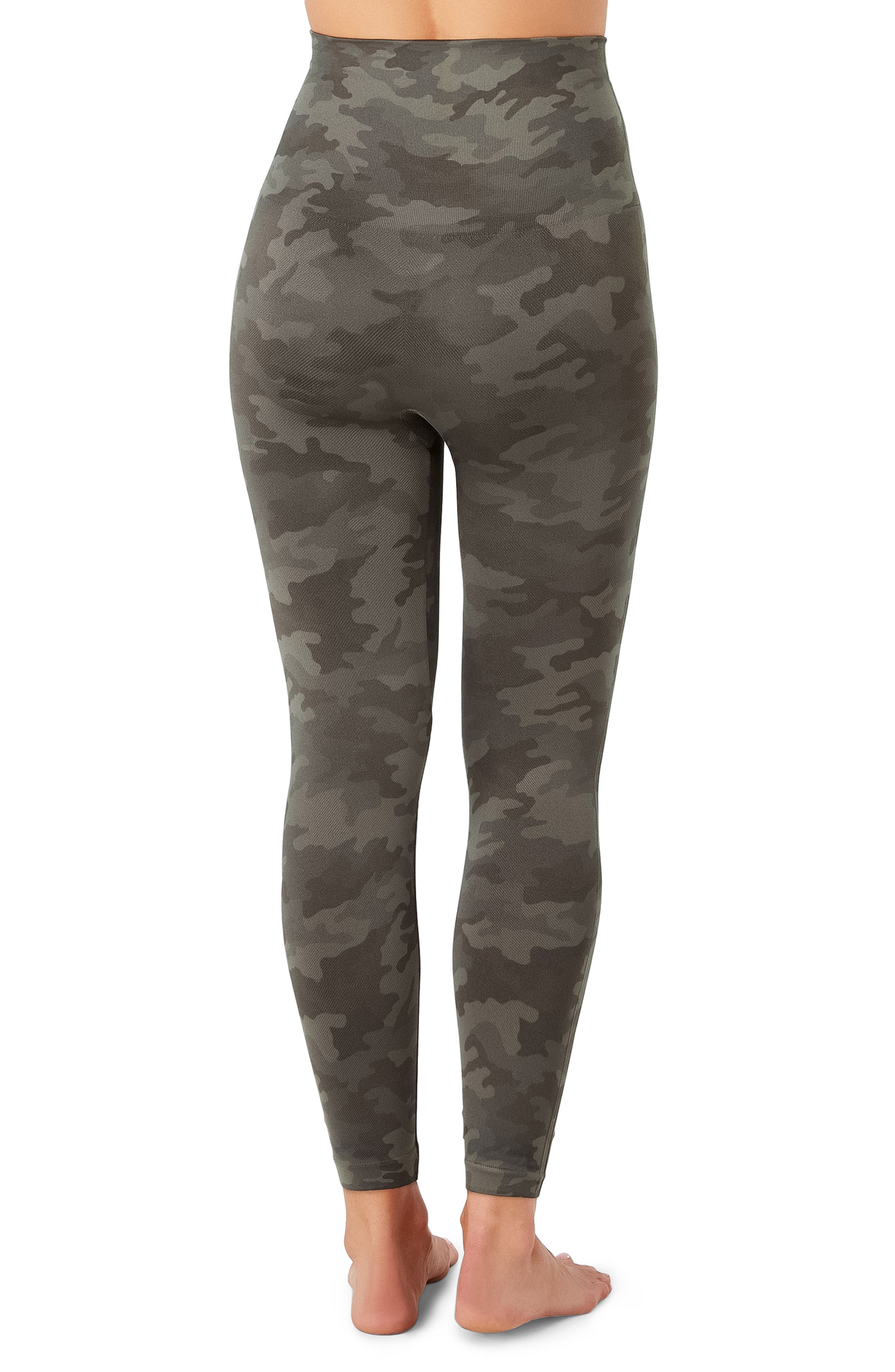 SPANX Look At Me Now Crop Seamless Leggings,                             Alternate thumbnail 2, color,                             SAGE CAMO