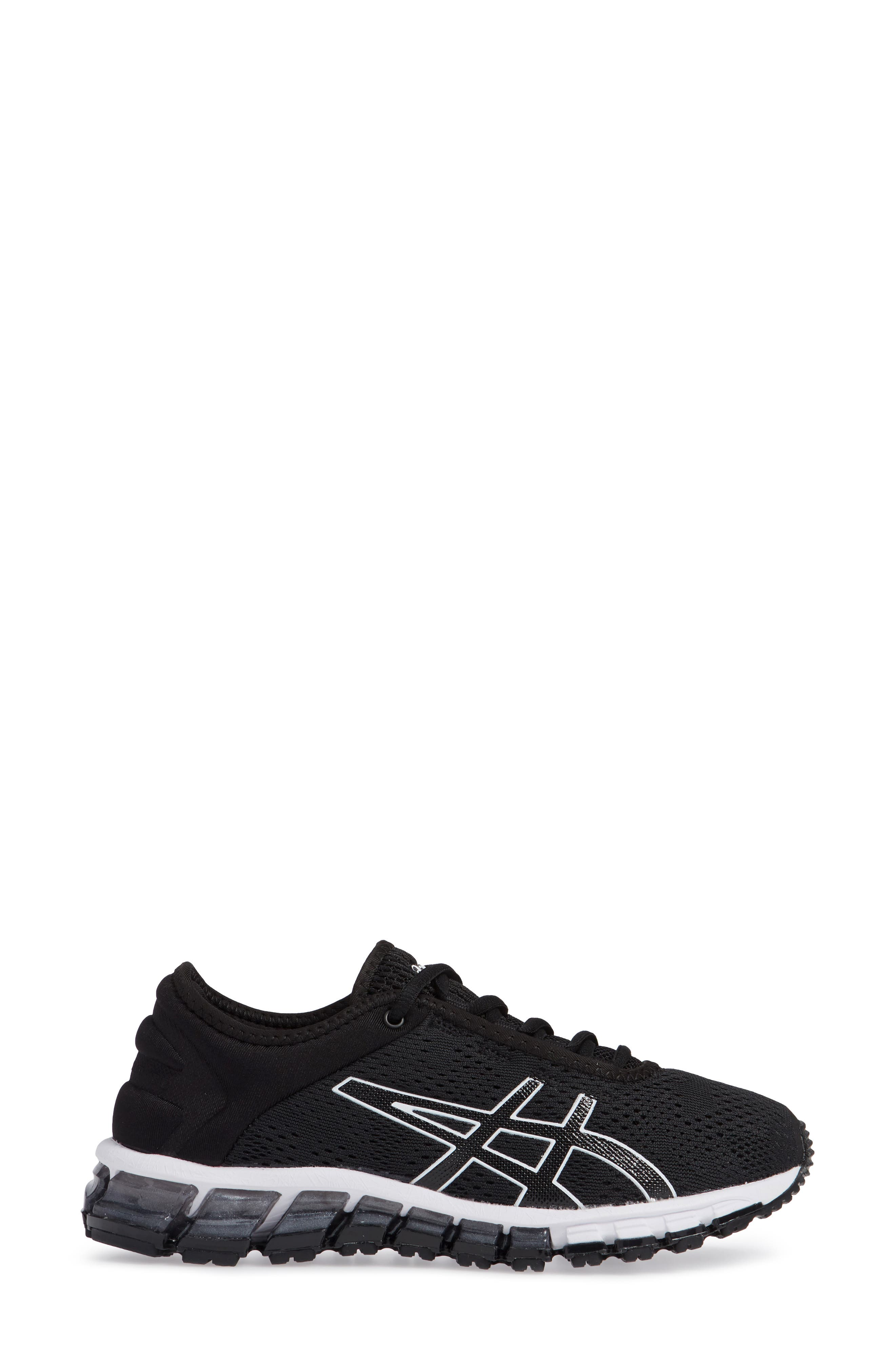GEL Quantum 180 3 Running Shoe,                             Alternate thumbnail 3, color,                             BLACK/ WHITE