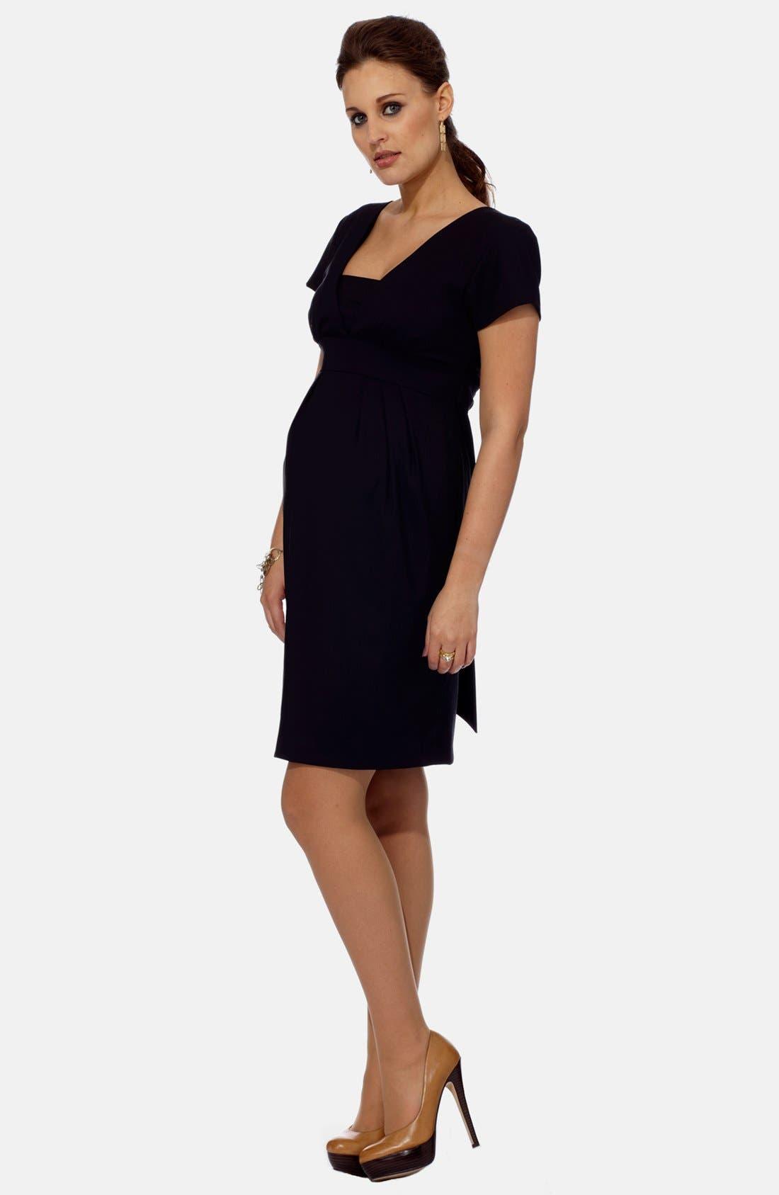 London Tailored Maternity Dress,                             Alternate thumbnail 3, color,                             NAVY