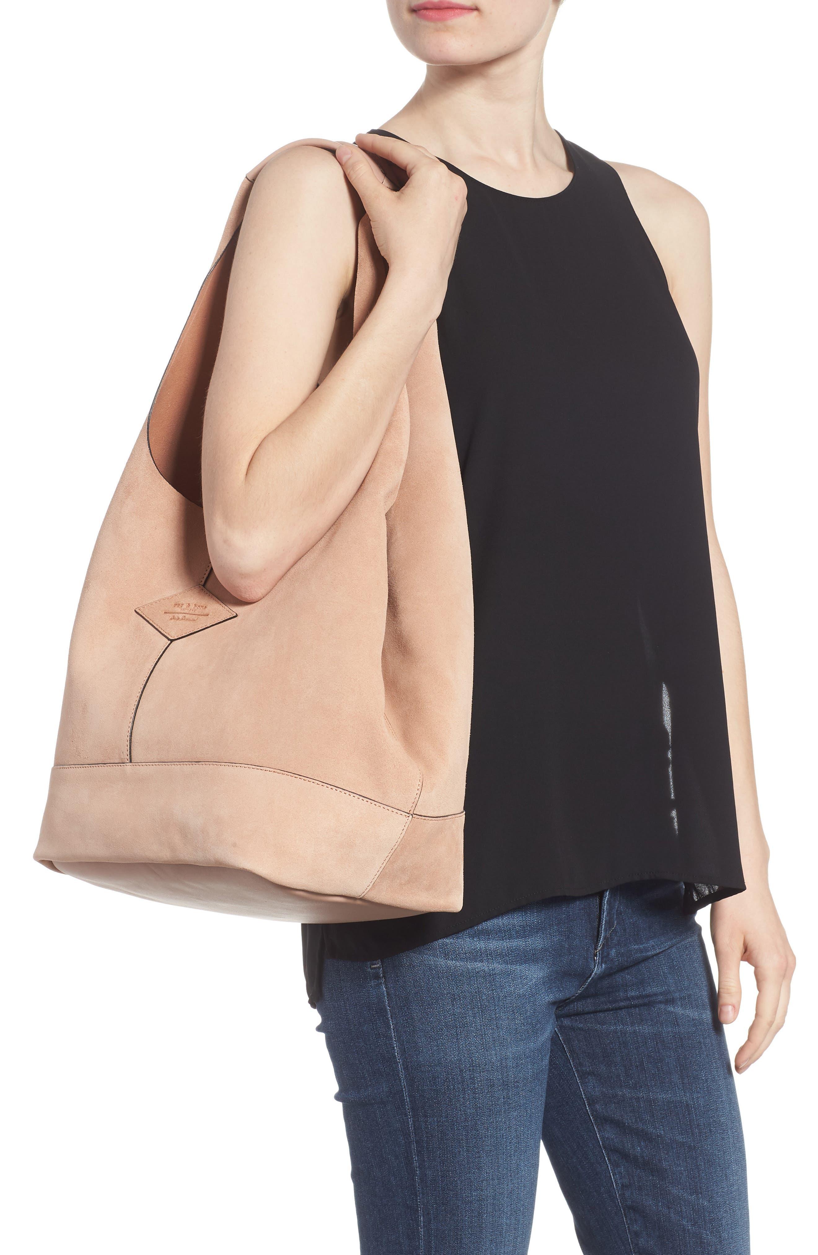 Camden Shopper Bag,                             Alternate thumbnail 2, color,                             NUDE SUEDE