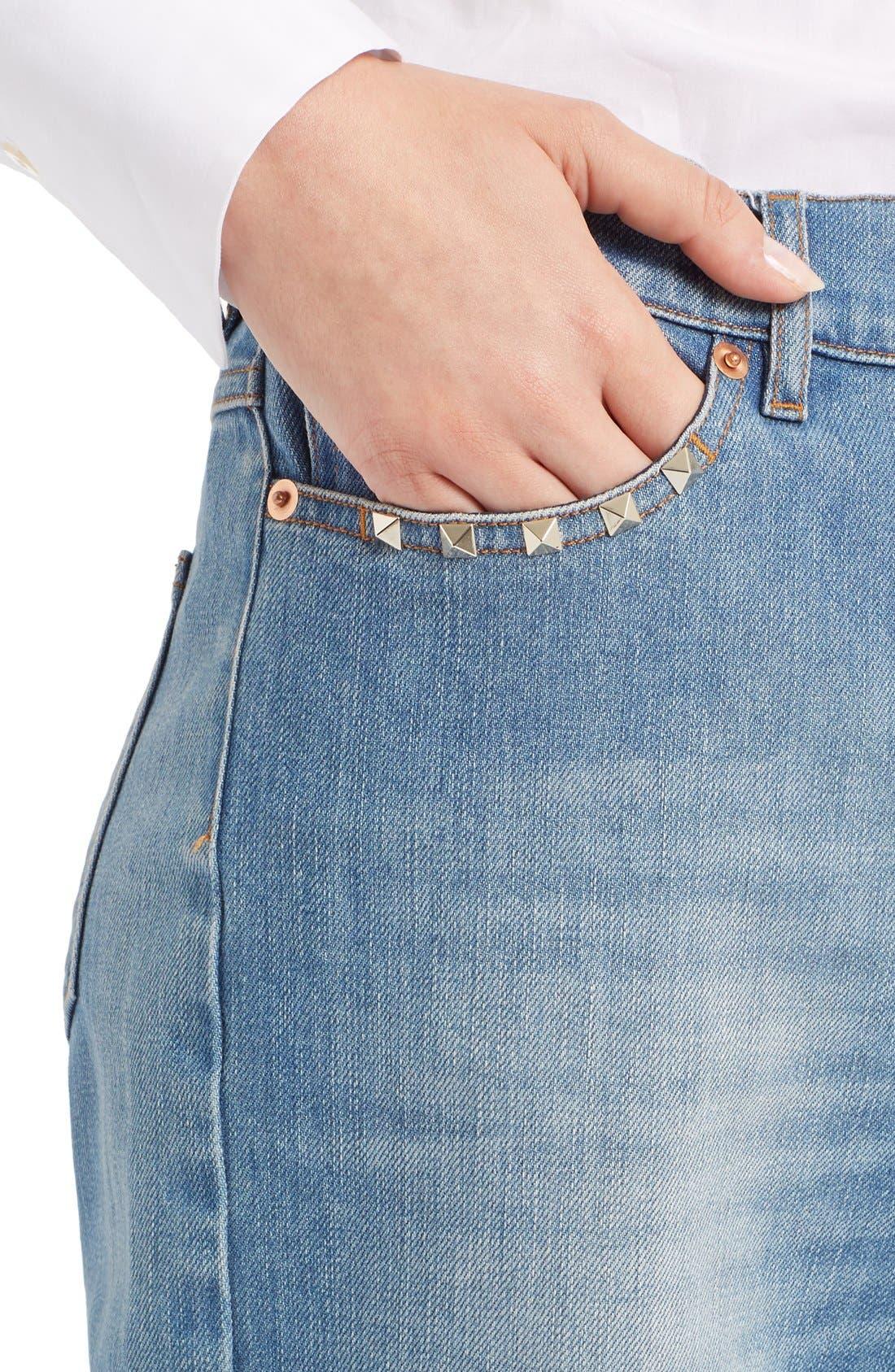 Rockstud Boyfriend Jeans,                             Alternate thumbnail 10, color,                             BLUE