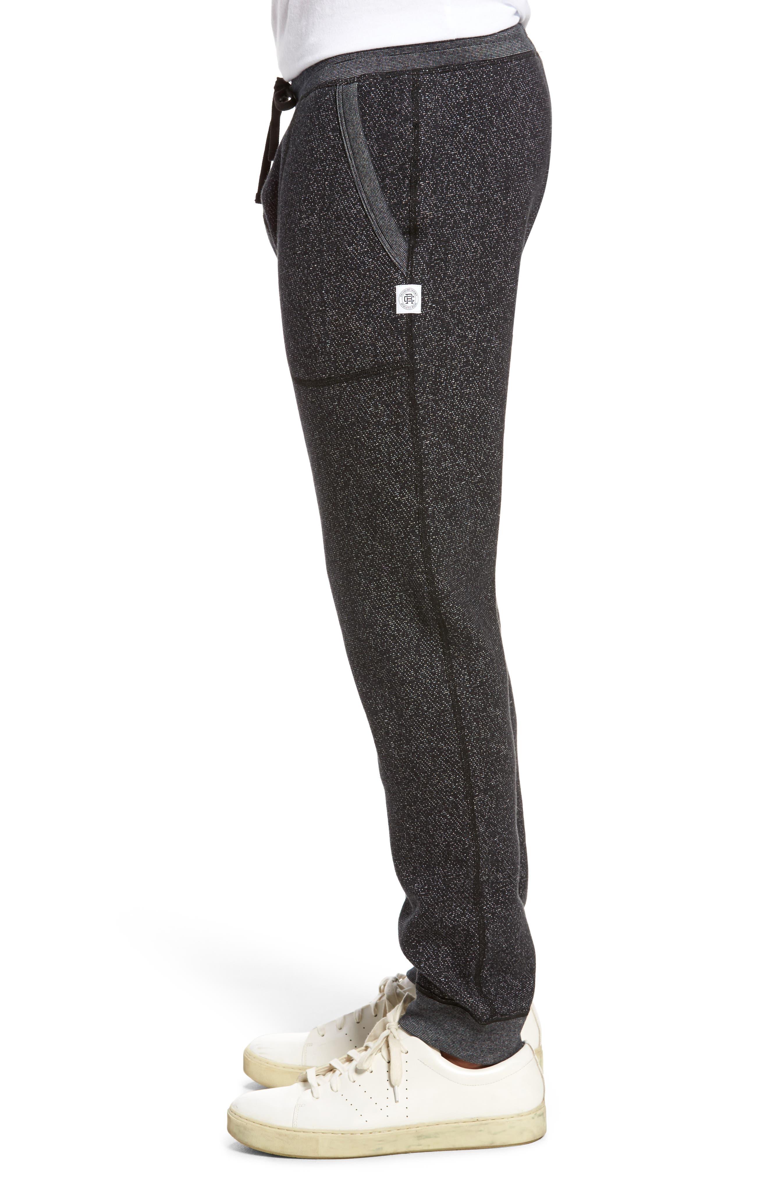 Tiger Slim Jogger Sweatpants,                             Alternate thumbnail 3, color,                             BLACK