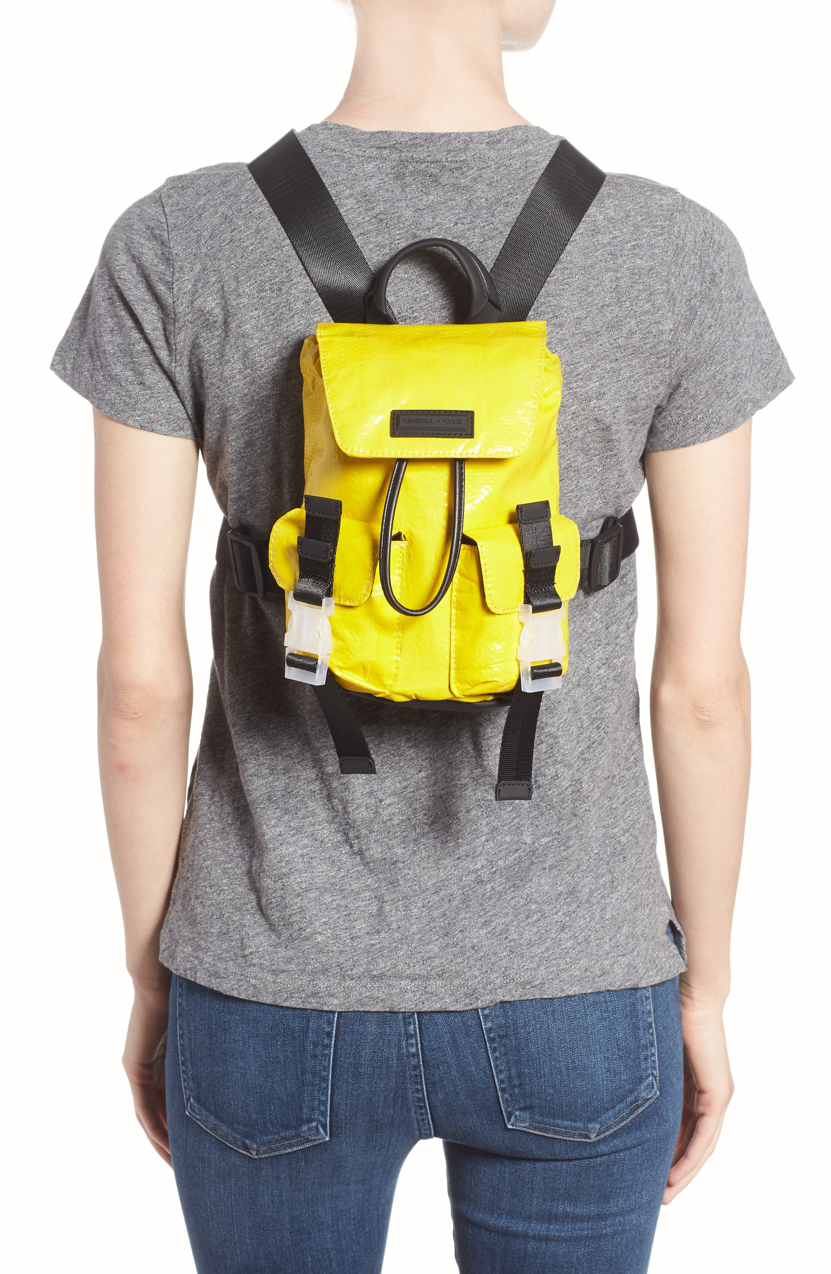 Mini Parker Water Resistant Backpack,                             Alternate thumbnail 2, color,                             YELLOW