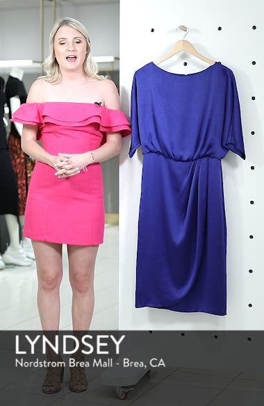 Draped Blouson Dress, sales video thumbnail