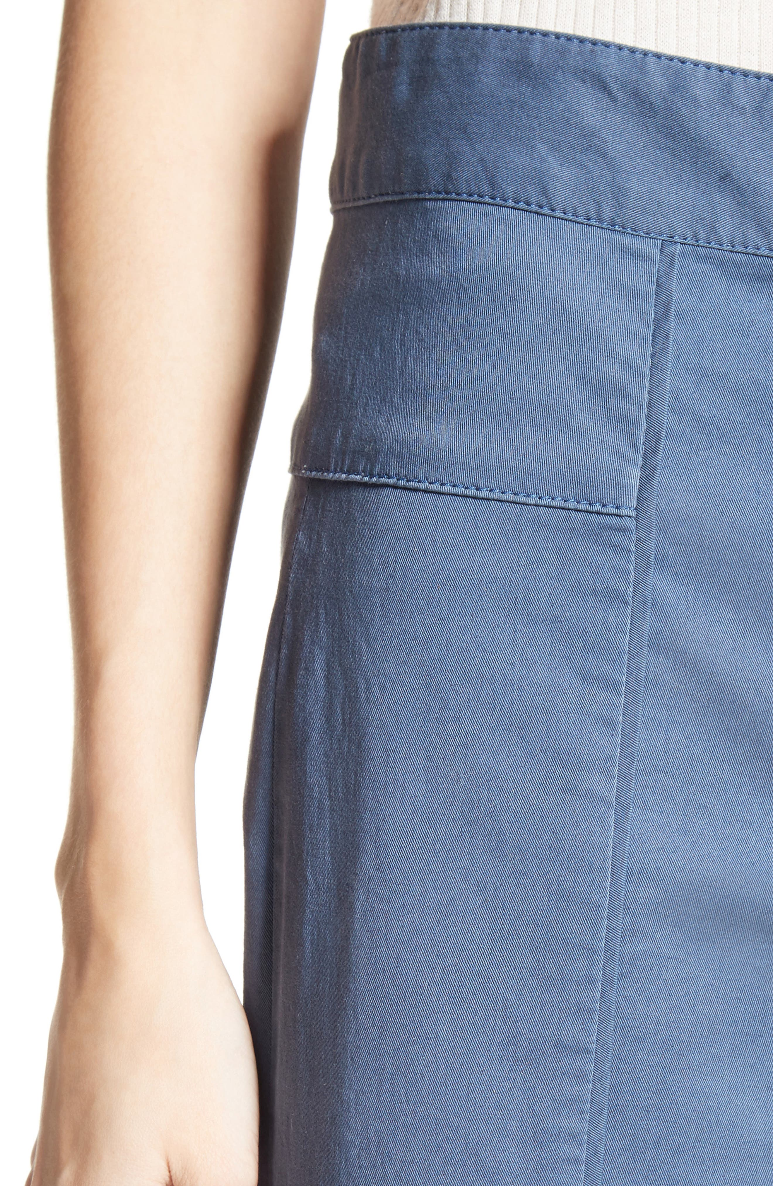 Cheyenne Wide Leg Crop Pants,                             Alternate thumbnail 4, color,                             438