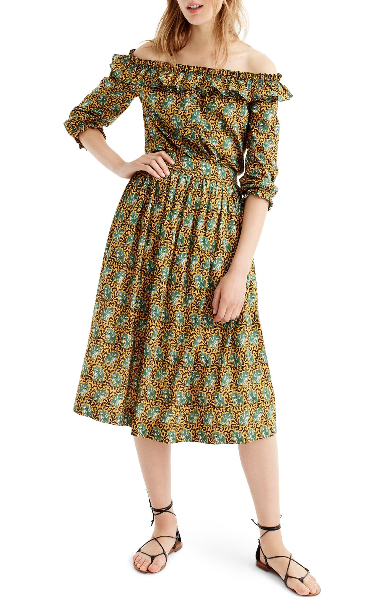 Elephant Print Skirt,                         Main,                         color,