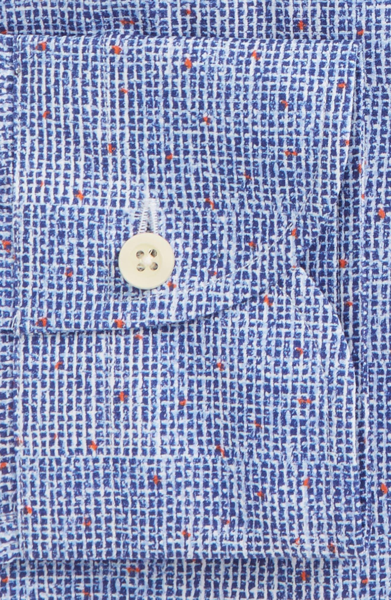 Normand Slim Fit Check Dress Shirt,                             Alternate thumbnail 6, color,