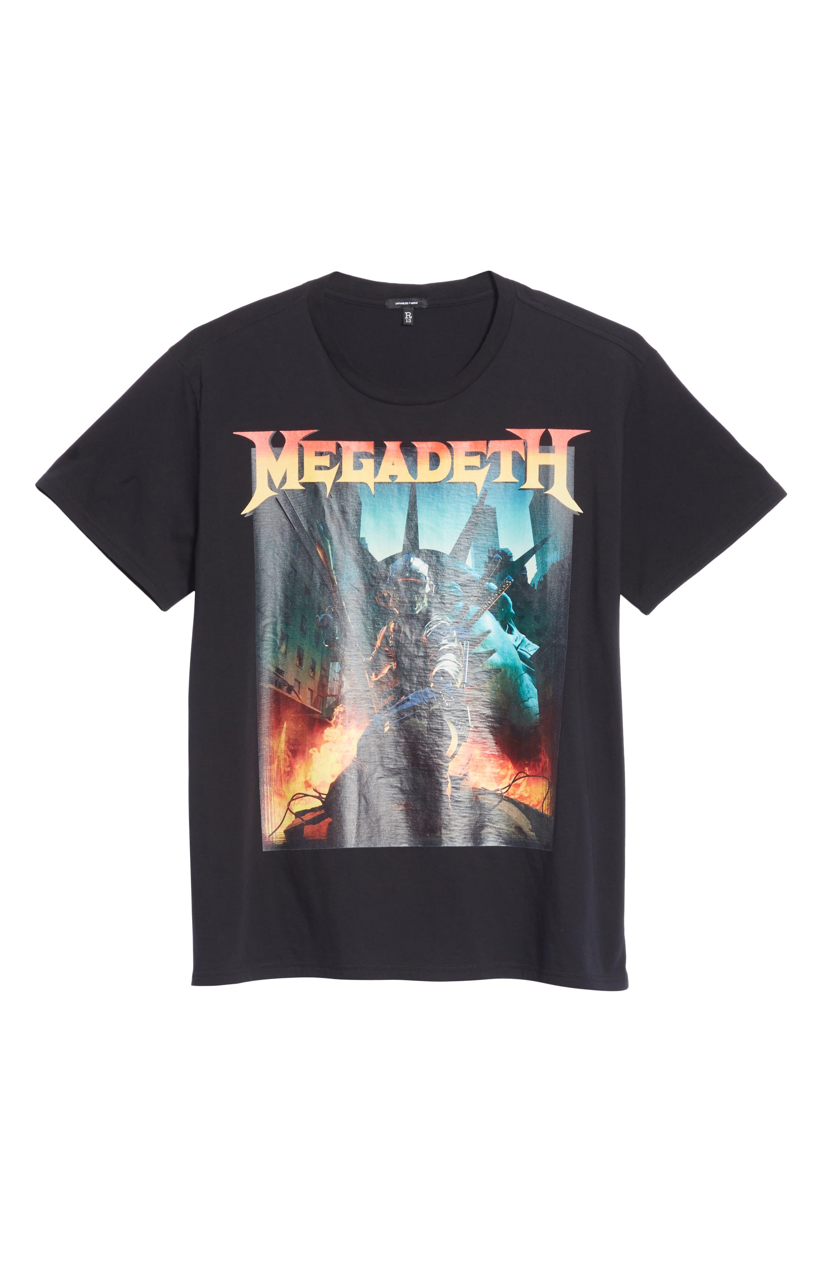 Megadeth Graphic Oversize T-Shirt,                             Alternate thumbnail 6, color,                             001