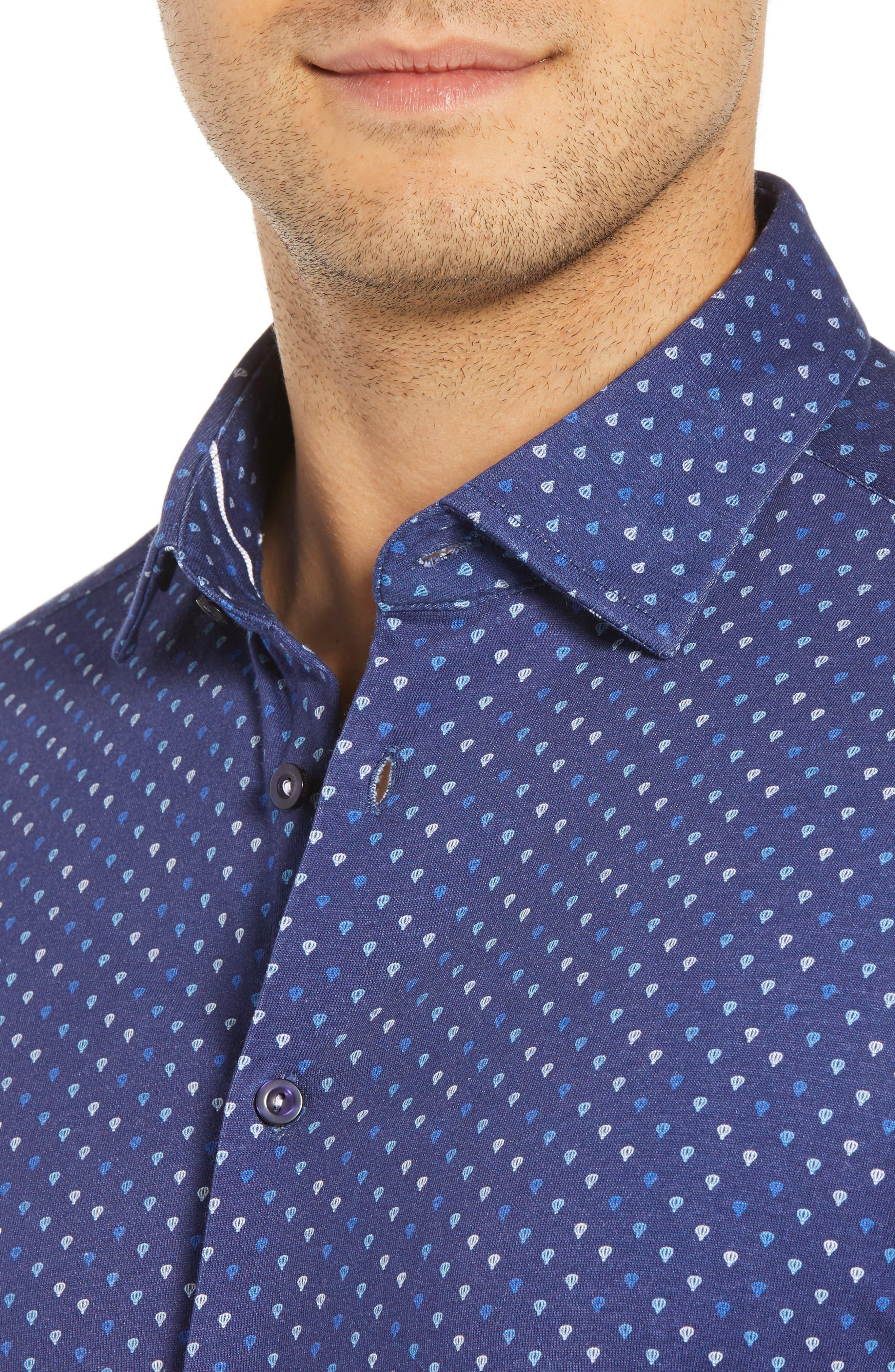 Regular Fit Sport Shirt,                             Alternate thumbnail 2, color,                             NAVY