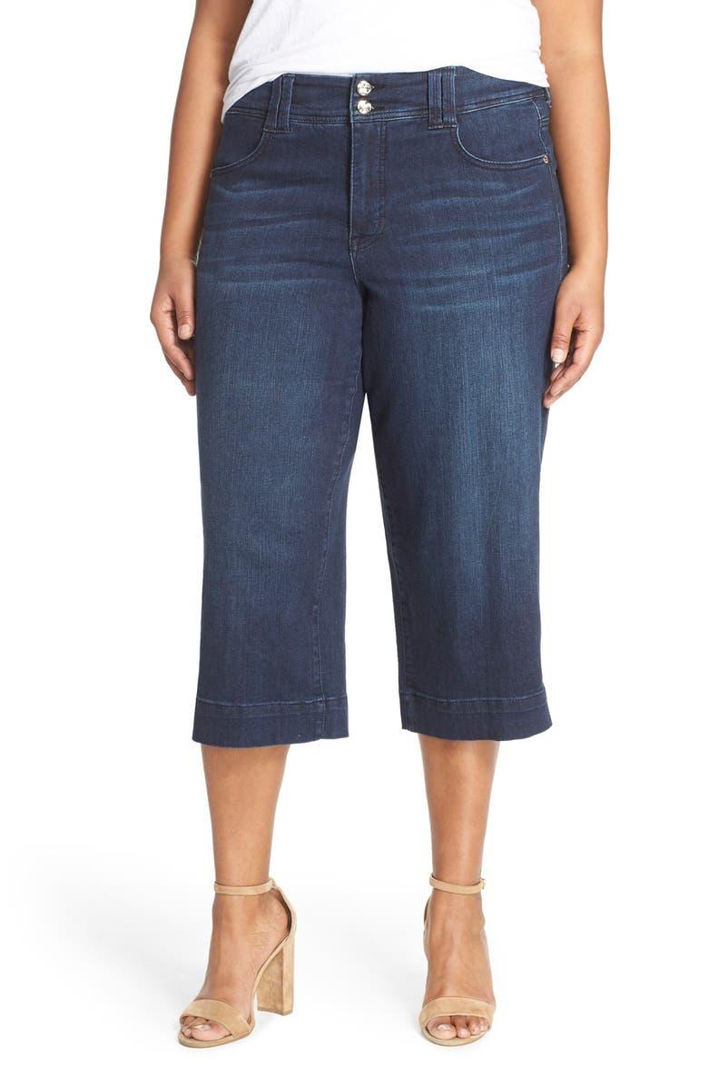 2e5b19388eda1 Melissa McCarthy Seven7 Stretch Wide Leg Crop Jeans (Vertigo) (Plus ...
