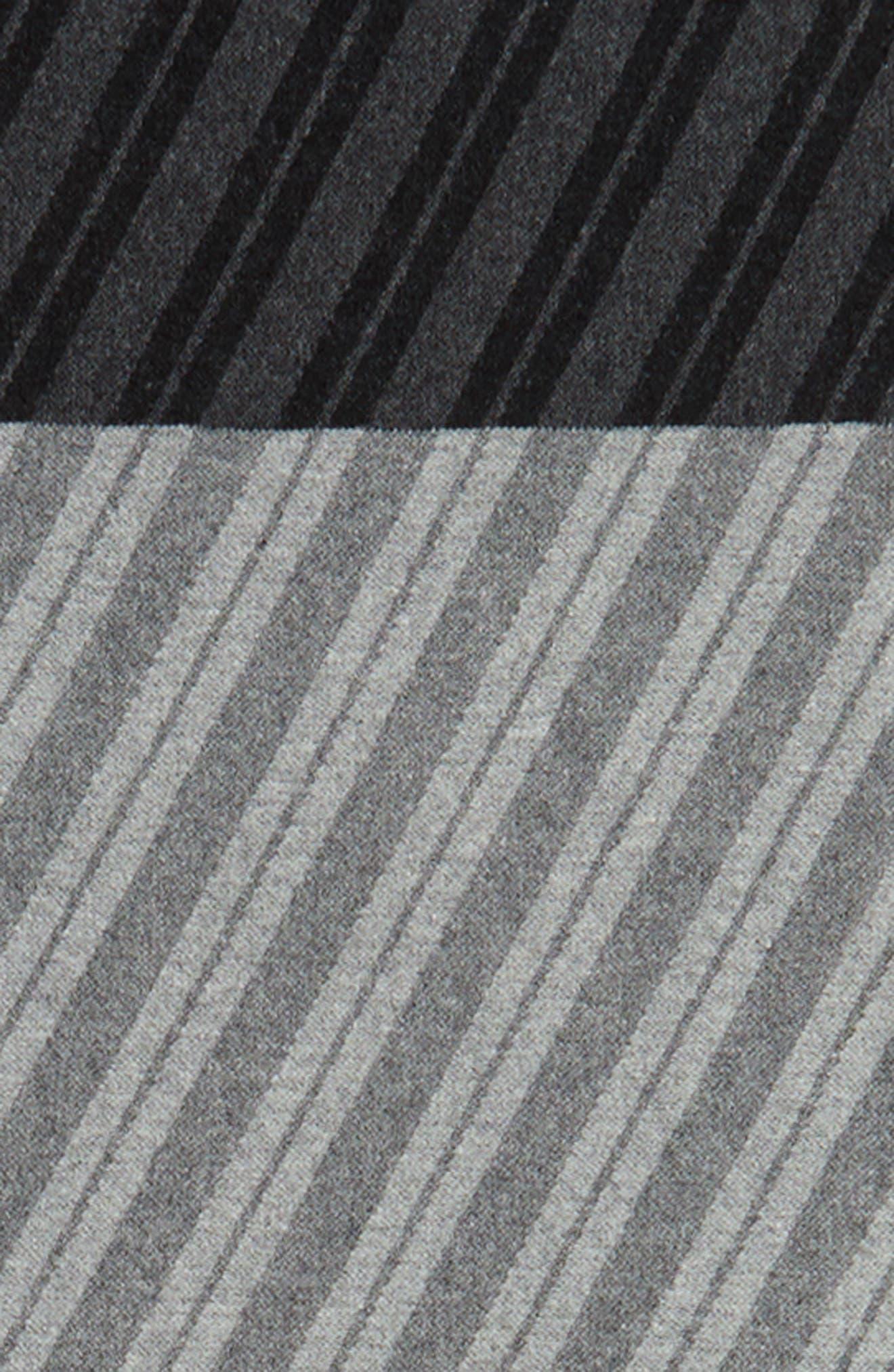 Colorblock Stripe Cotton Scarf,                             Alternate thumbnail 4, color,                             030