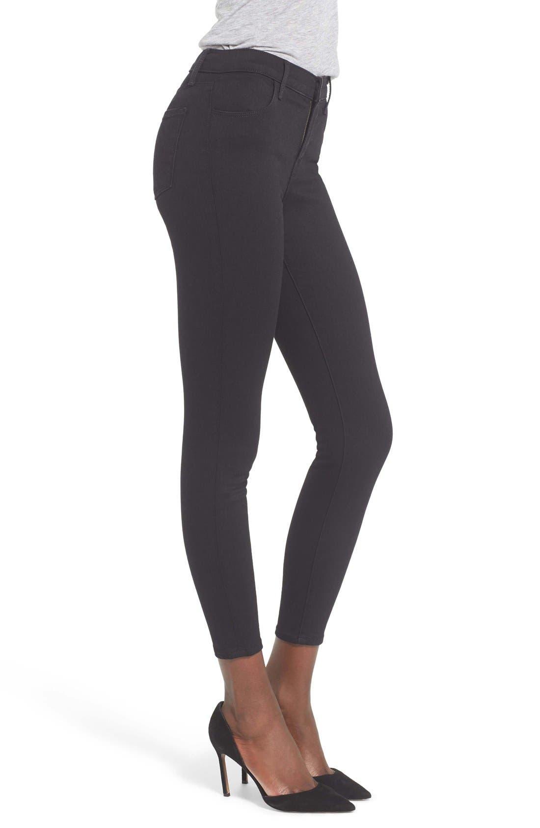 Alana High Waist Crop Skinny Jeans,                             Alternate thumbnail 7, color,                             002