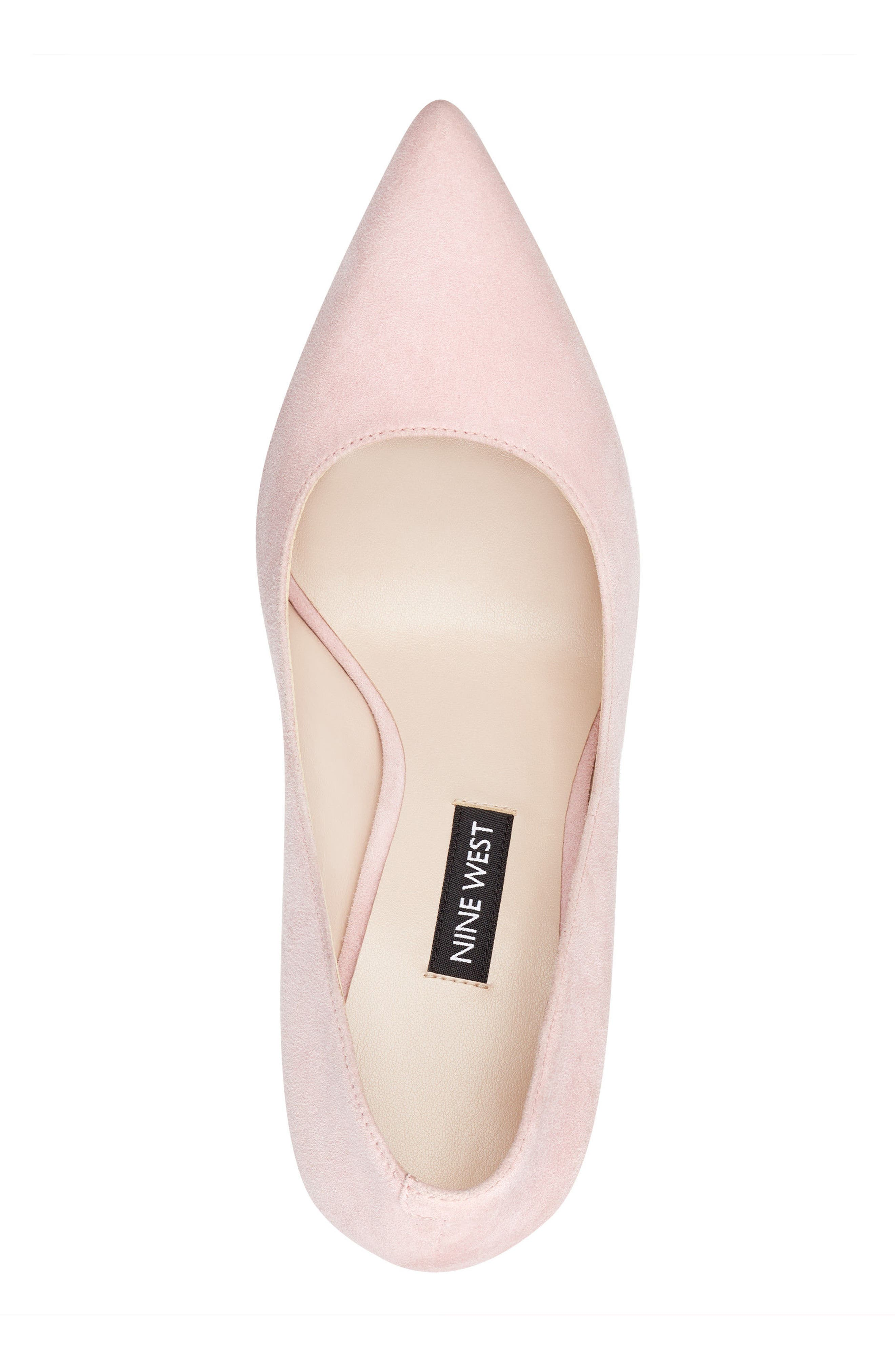 'Tatiana' Pointy Toe Pump,                             Alternate thumbnail 5, color,                             LIGHT PINK SUEDE