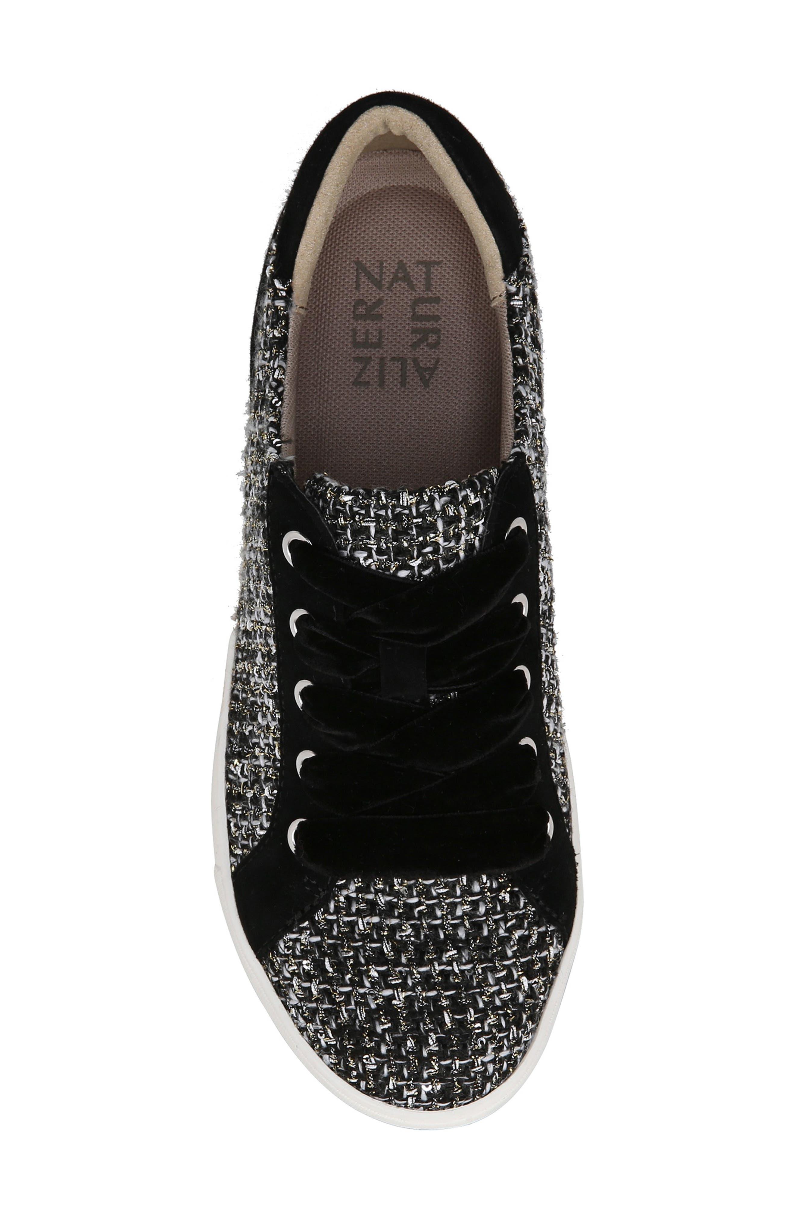 Morrison Sneaker,                             Alternate thumbnail 5, color,                             BLACK/ WHITE TWEED FABRIC