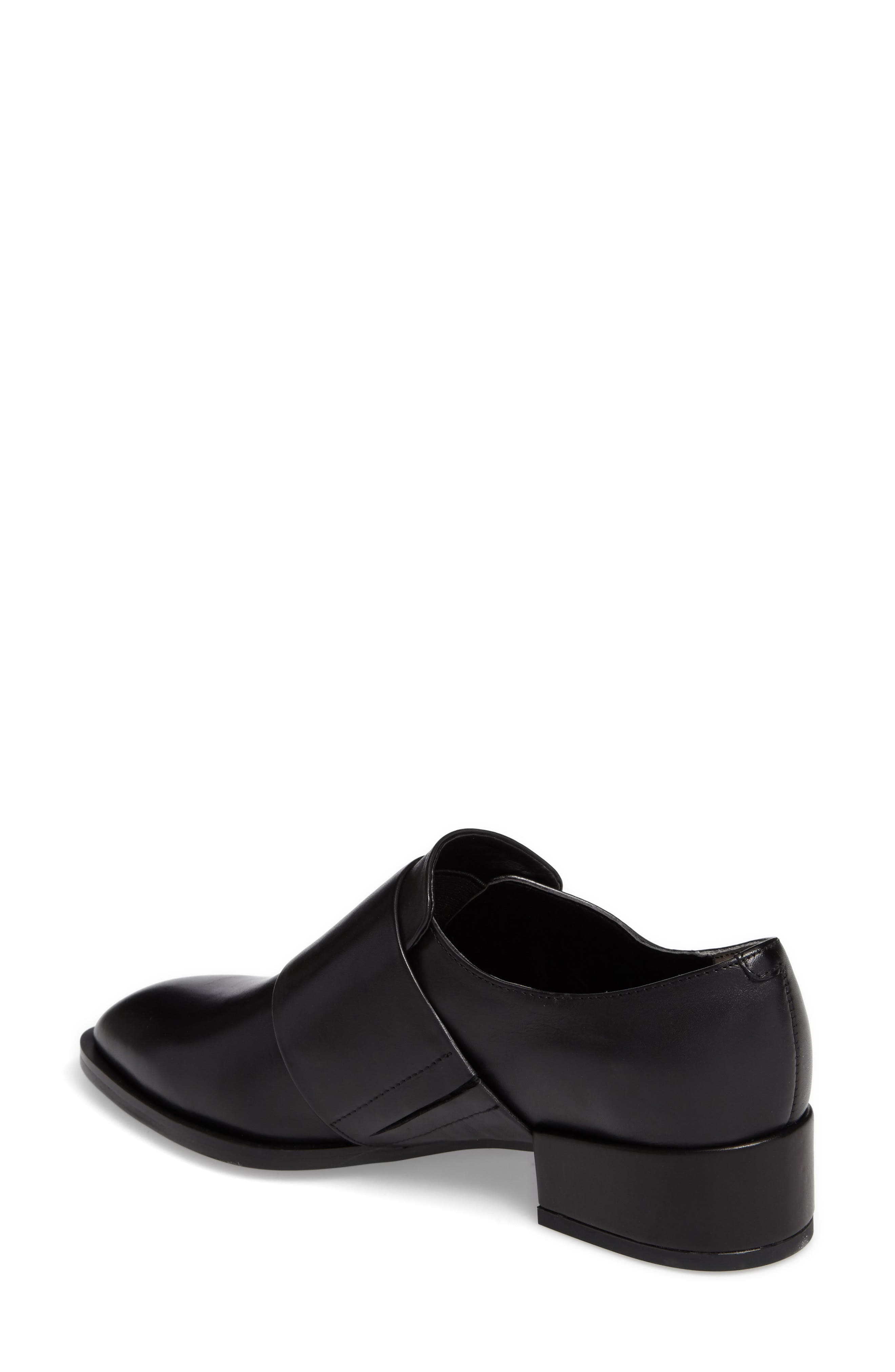 Dilla Loafer,                             Alternate thumbnail 2, color,                             BLACK CALAIS LEATHER