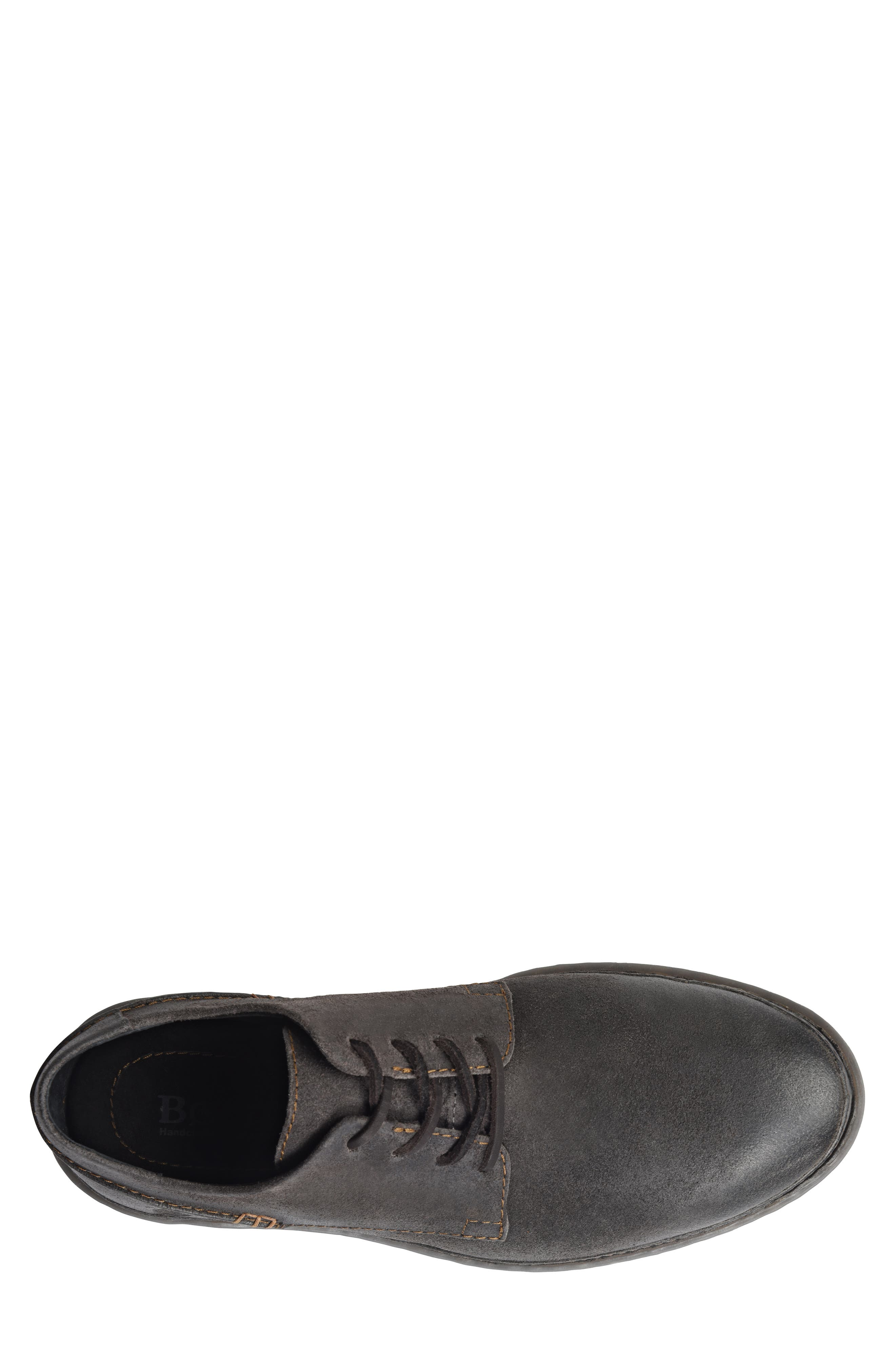 Gilles Plain Toe Derby,                             Alternate thumbnail 5, color,                             DARK GREY LEATHER