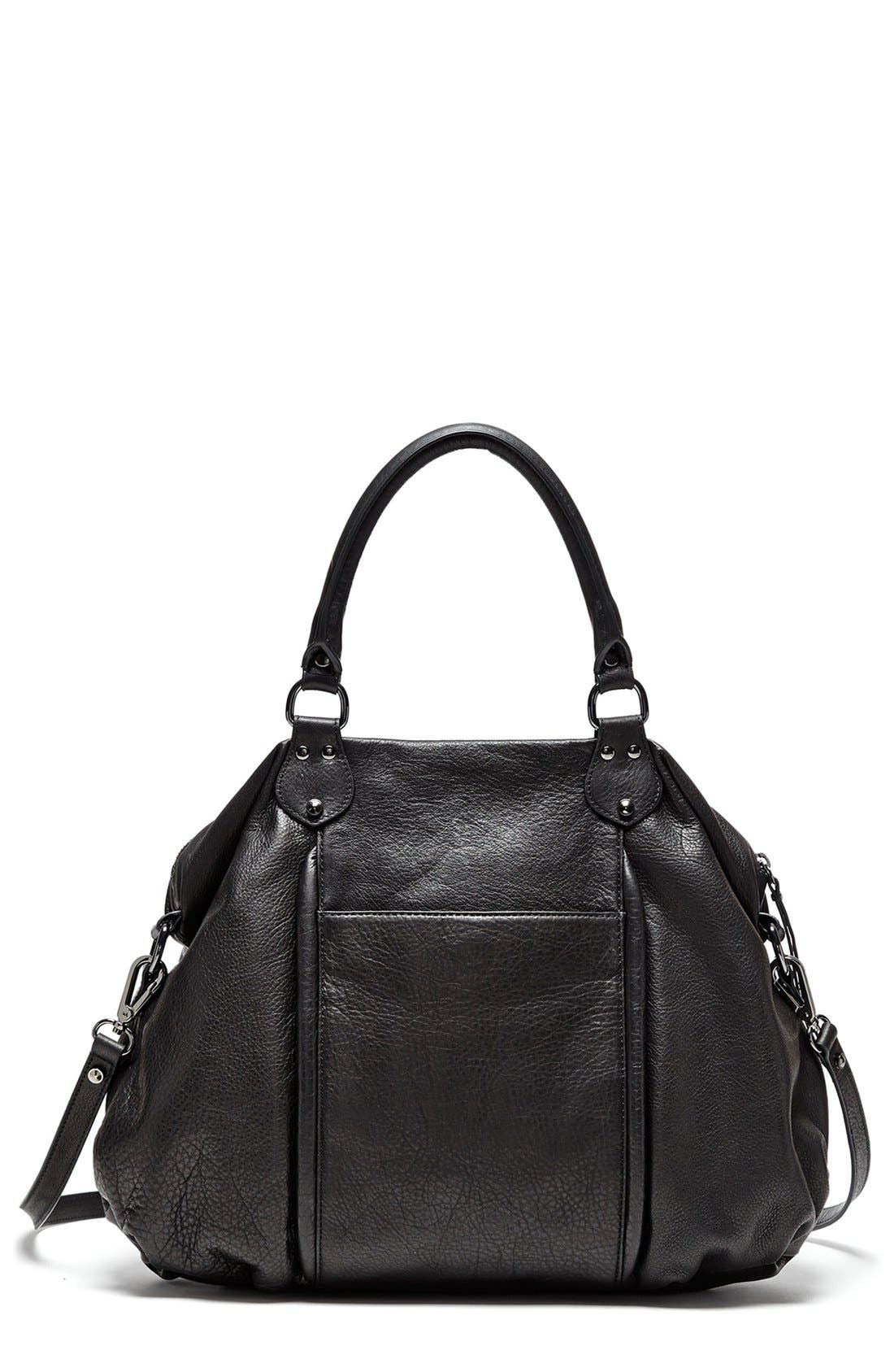 'All Day' Leather Satchel,                             Alternate thumbnail 2, color,                             001