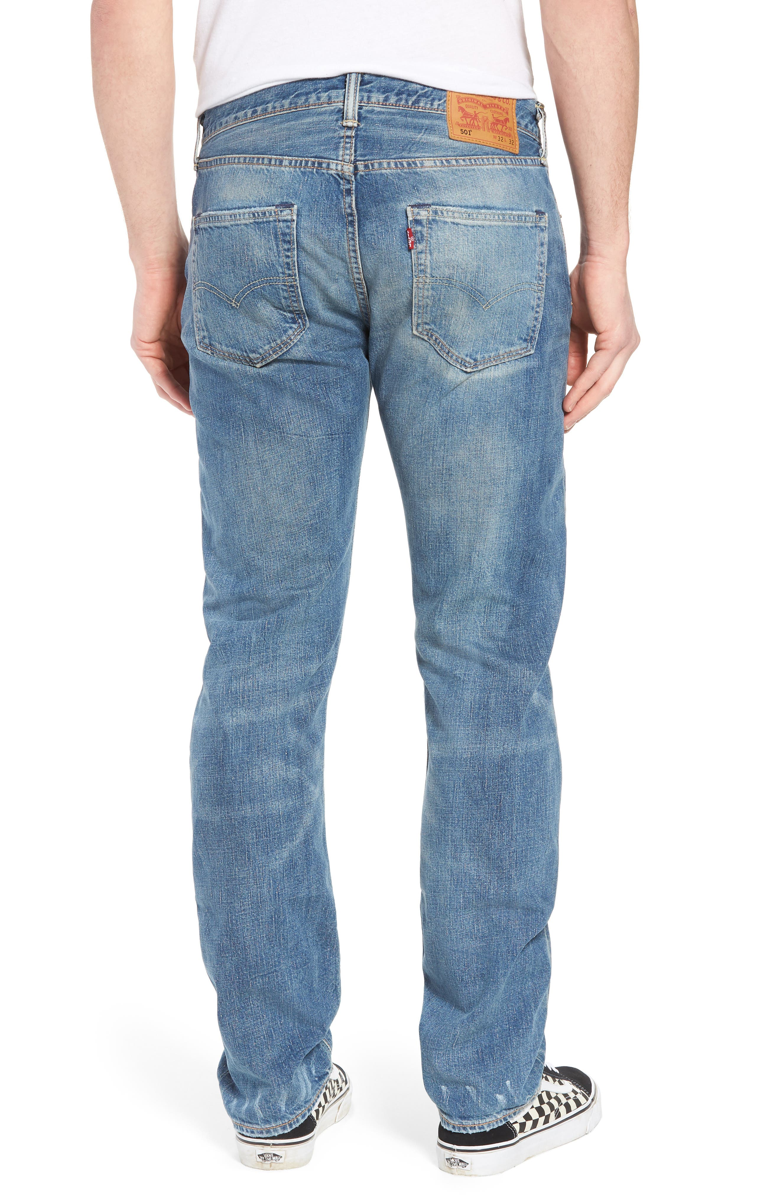 501<sup>®</sup> Original Straight Leg Jeans,                             Alternate thumbnail 2, color,
