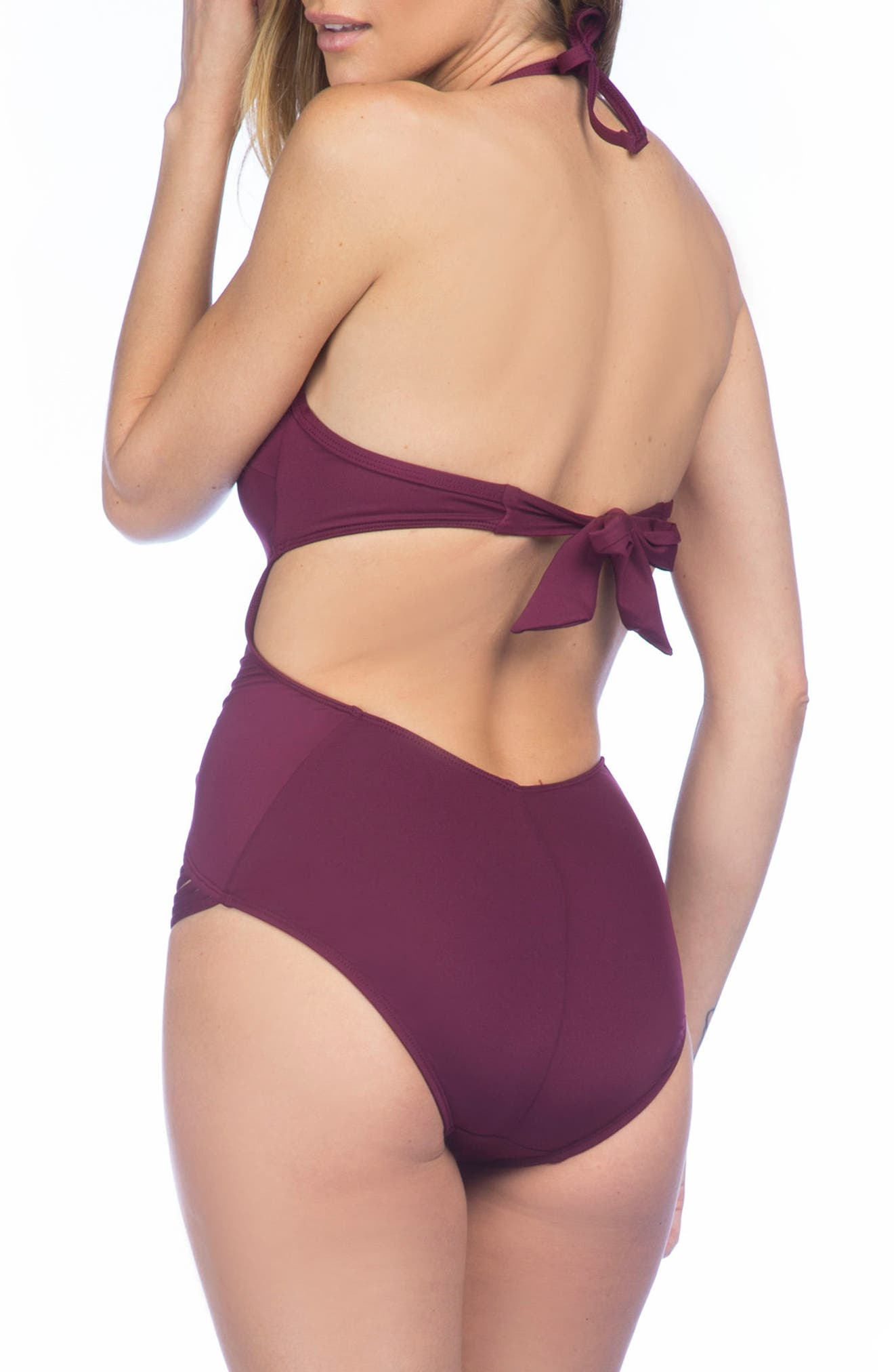 Push-Up One-Piece Swimsuit,                             Alternate thumbnail 14, color,