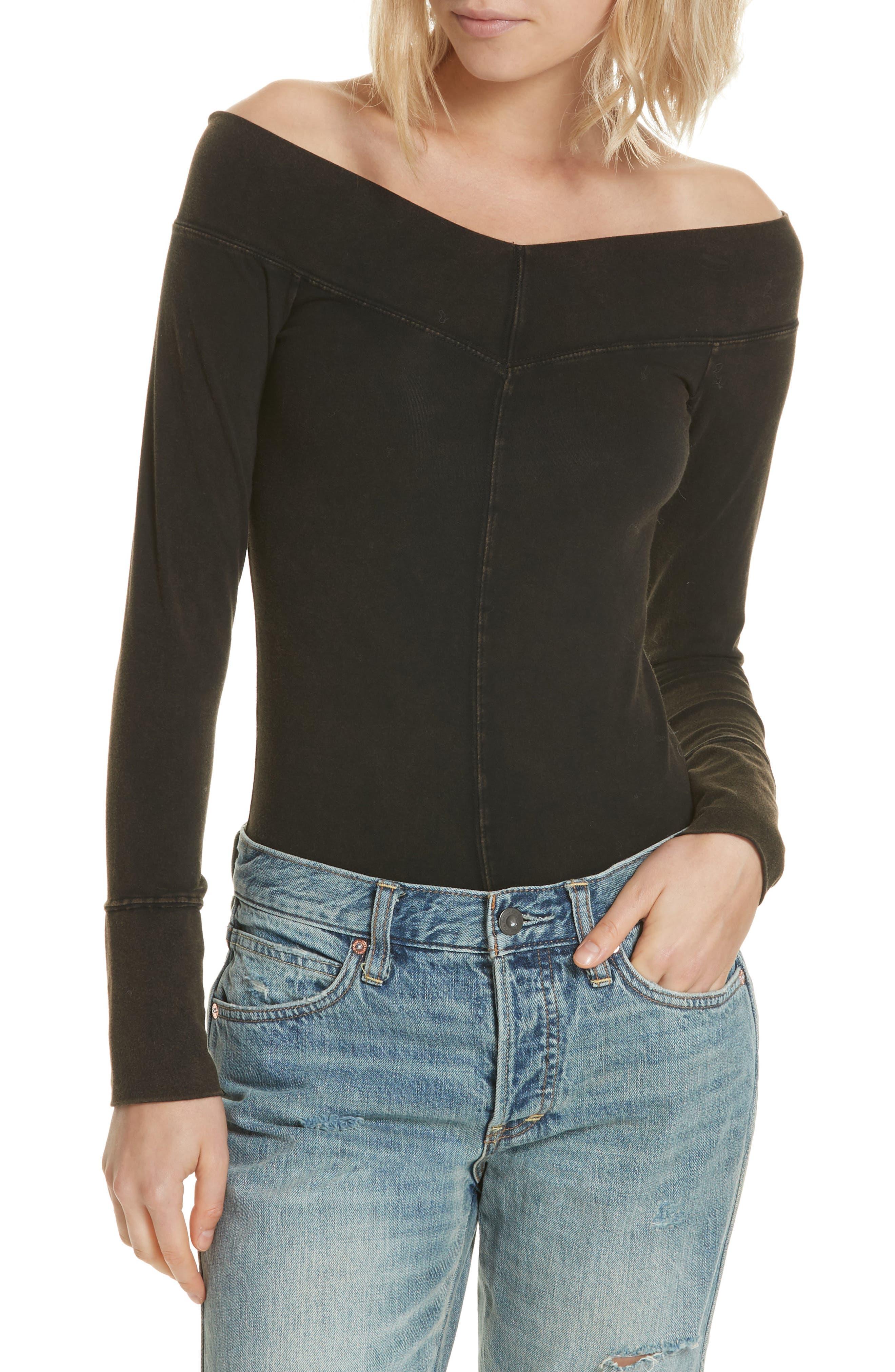 Zone Out Bodysuit,                         Main,                         color, BLACK