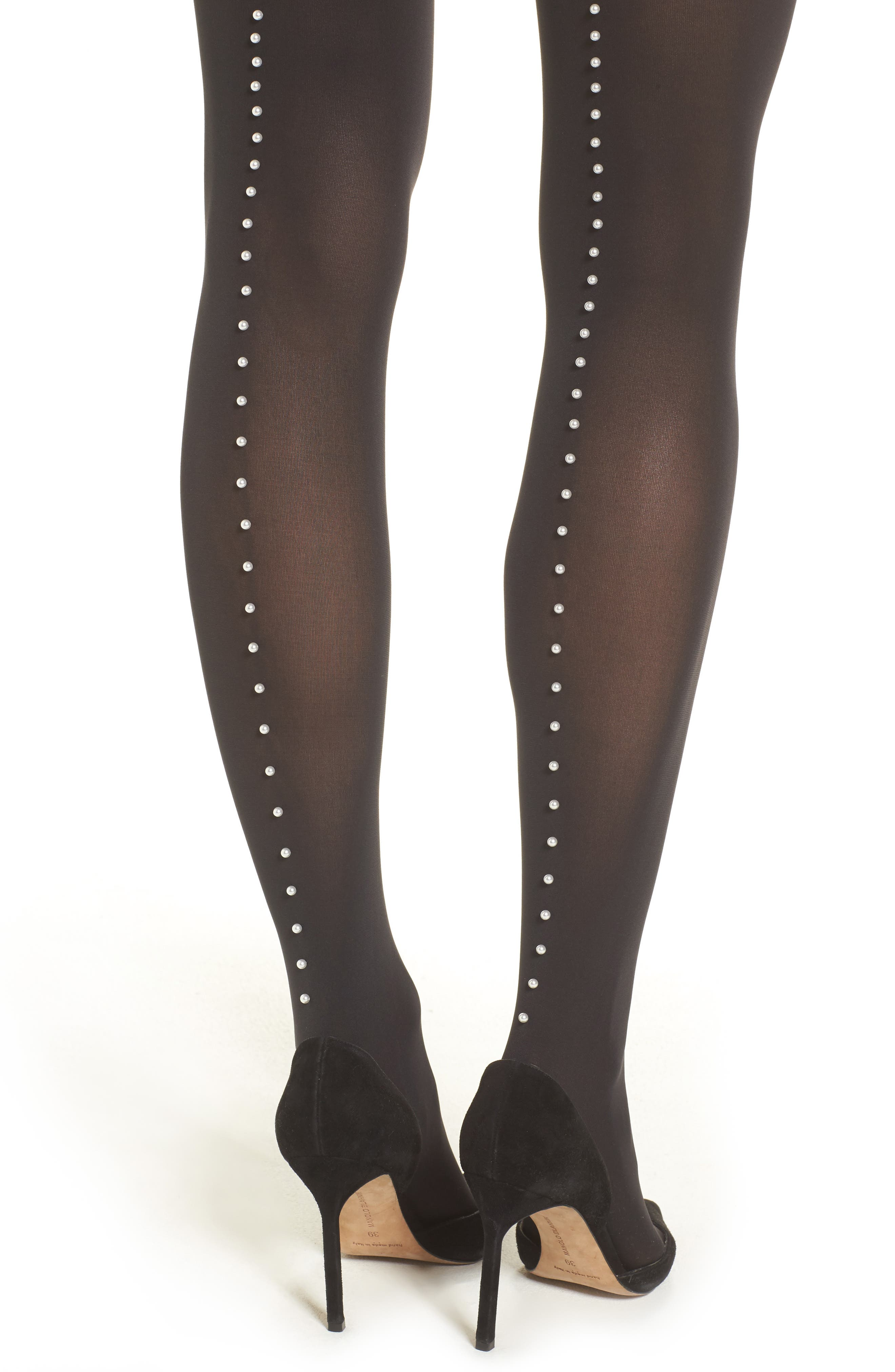 Pearlescent Beaded Tights,                             Alternate thumbnail 2, color,