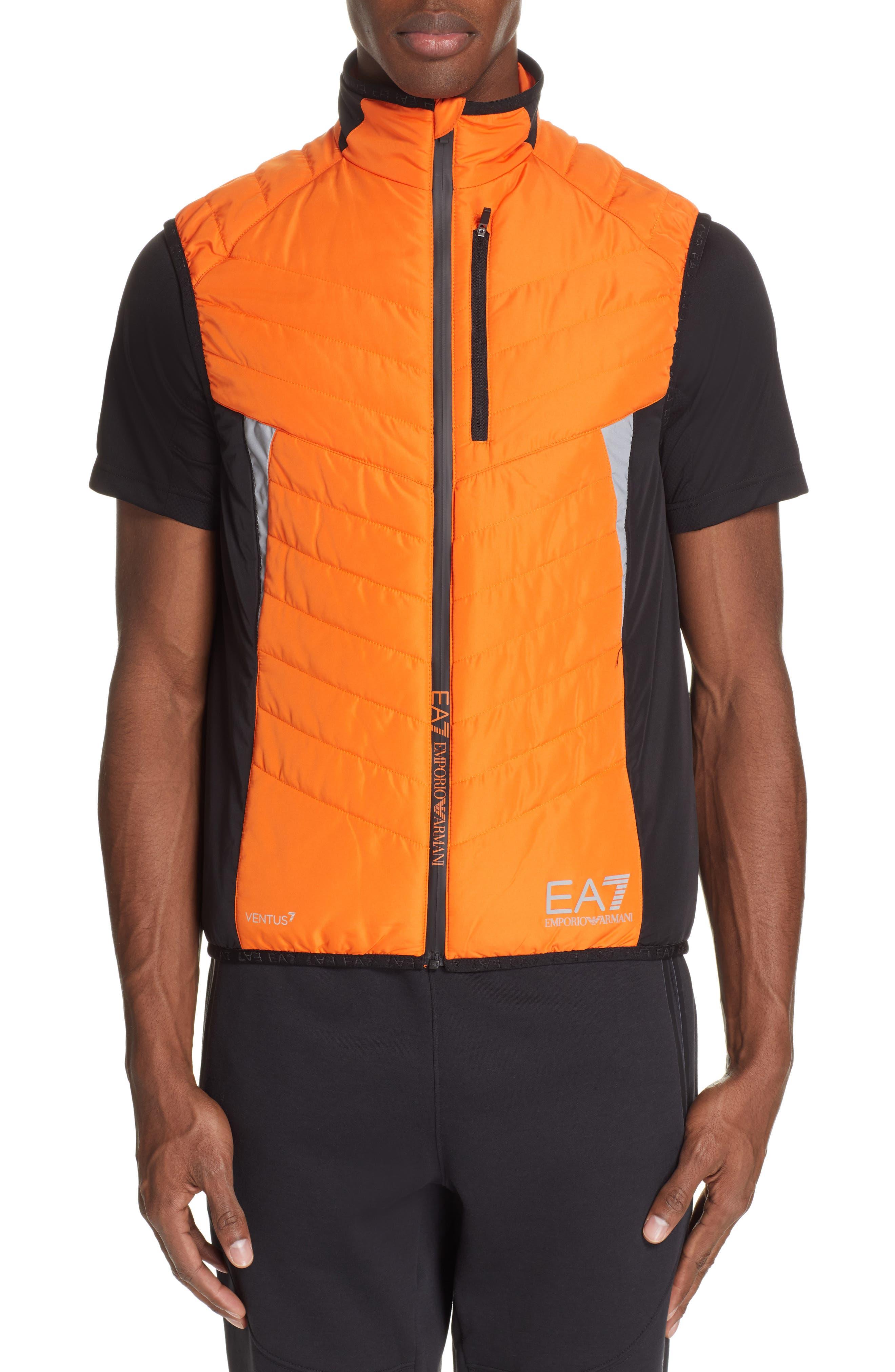 Ea7 Poppy Water Resistant Vest, Yellow